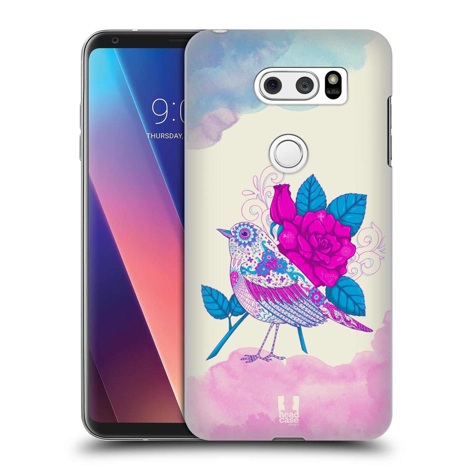 Plastové pouzdro na mobil LG V30 - Head Case - PTÁČEK FUCHSIA