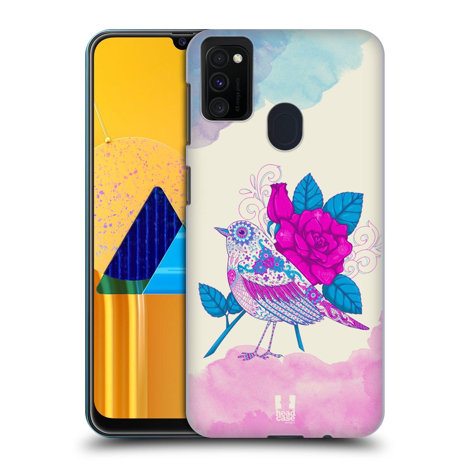 Plastové pouzdro na mobil Samsung Galaxy M21 - Head Case - PTÁČEK FUCHSIA