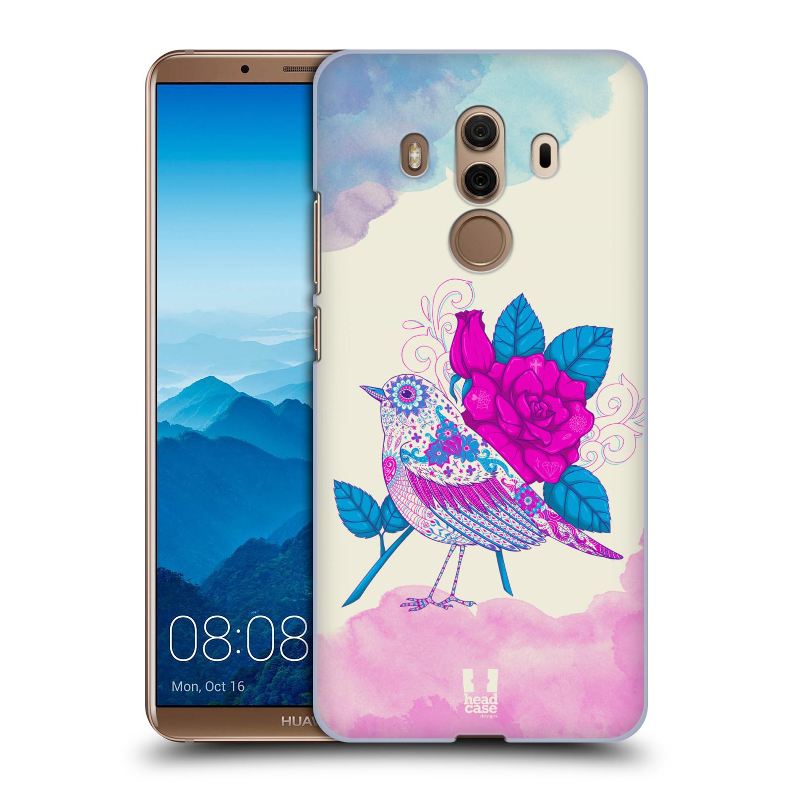 Plastové pouzdro na mobil Huawei Mate 10 Pro - Head Case - PTÁČEK FUCHSIA