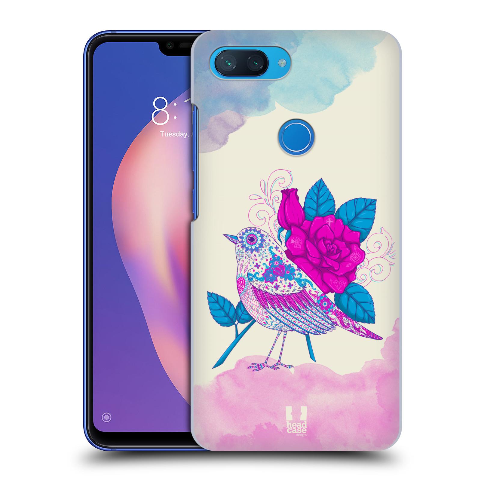 Plastové pouzdro na mobil Xiaomi Mi 8 Lite - Head Case - PTÁČEK FUCHSIA