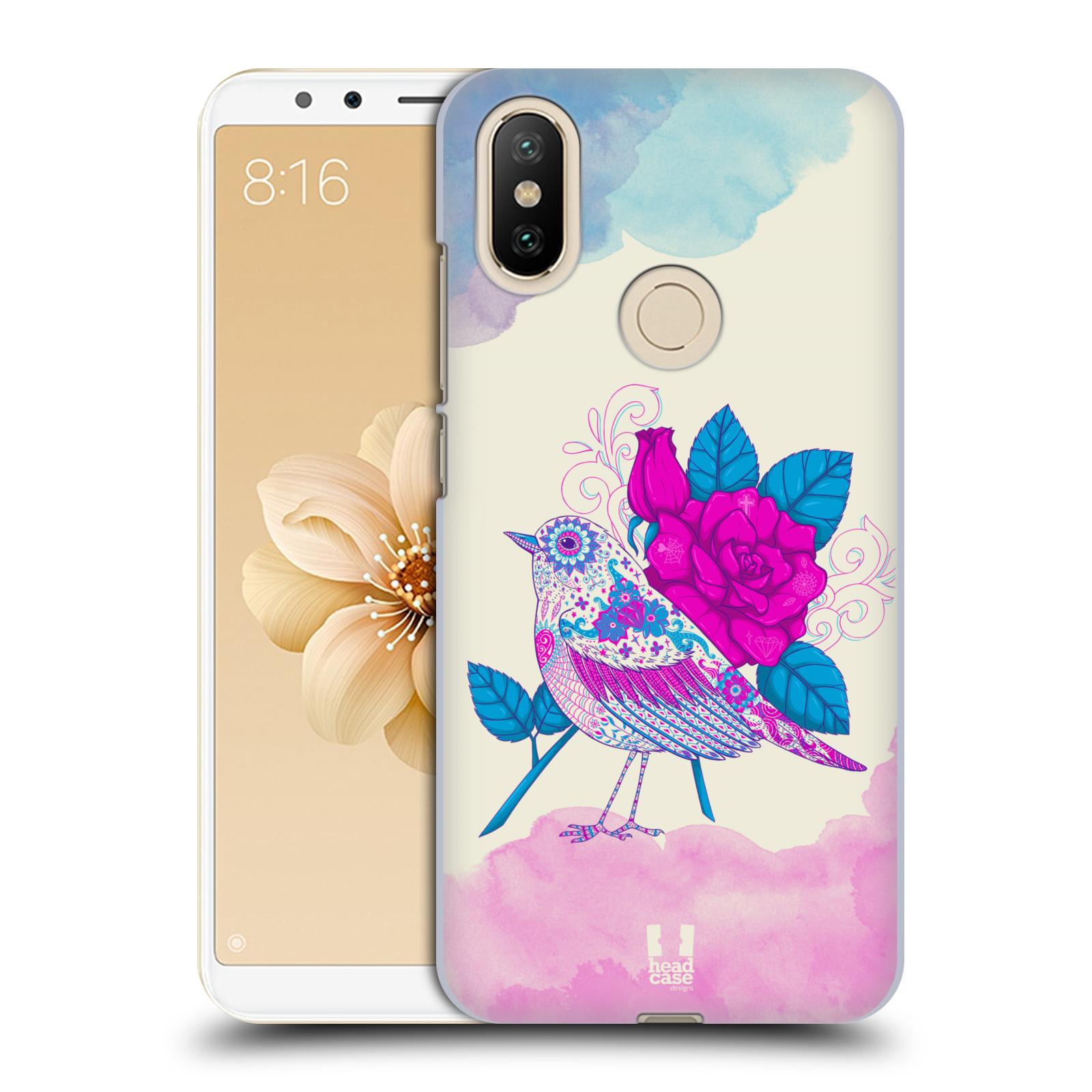Plastové pouzdro na mobil Xiaomi Mi A2 - Head Case - PTÁČEK FUCHSIA