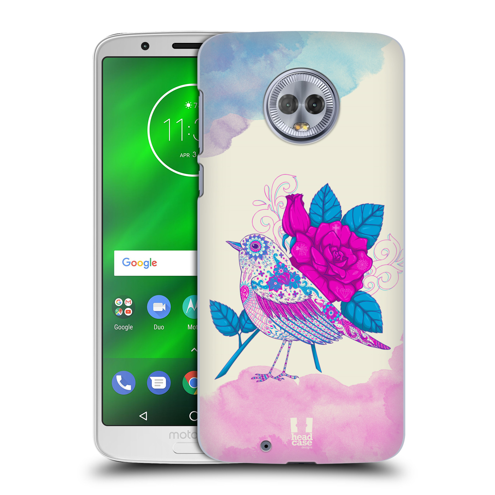Plastové pouzdro na mobil Motorola Moto G6 - Head Case - PTÁČEK FUCHSIA
