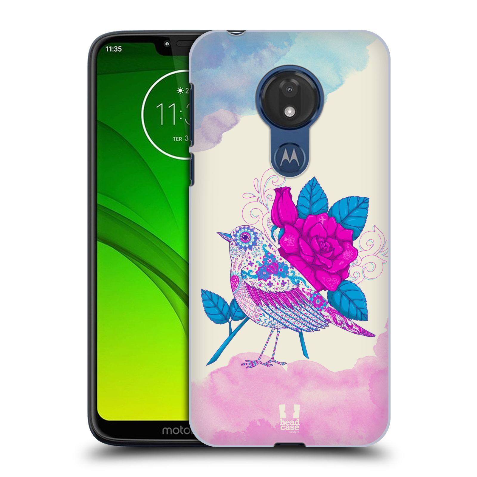 Plastové pouzdro na mobil Motorola Moto G7 Power - Head Case - PTÁČEK FUCHSIA