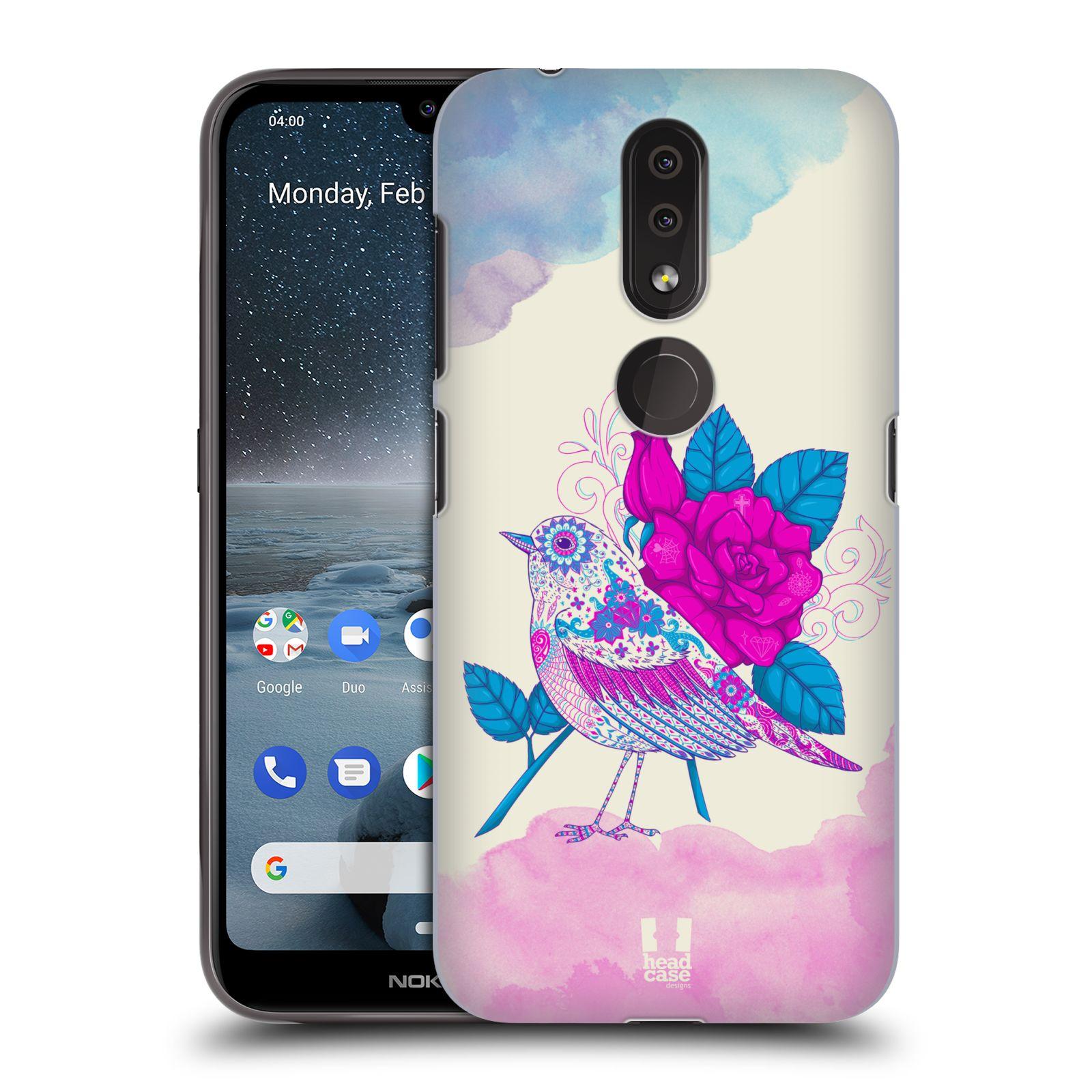 Plastové pouzdro na mobil Nokia 4.2 - Head Case - PTÁČEK FUCHSIA