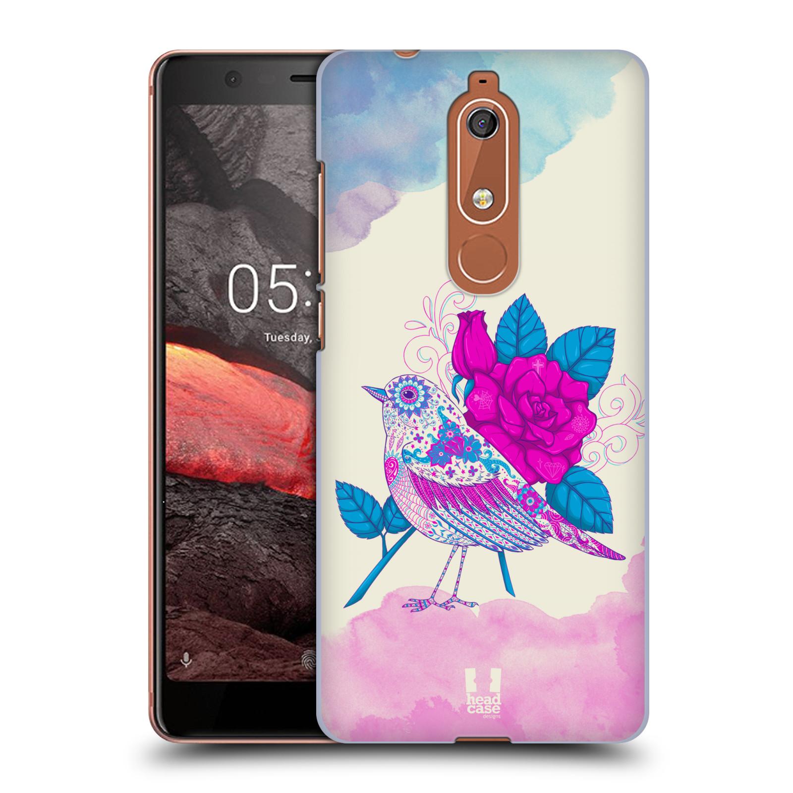 Plastové pouzdro na mobil Nokia 5.1 - Head Case - PTÁČEK FUCHSIA