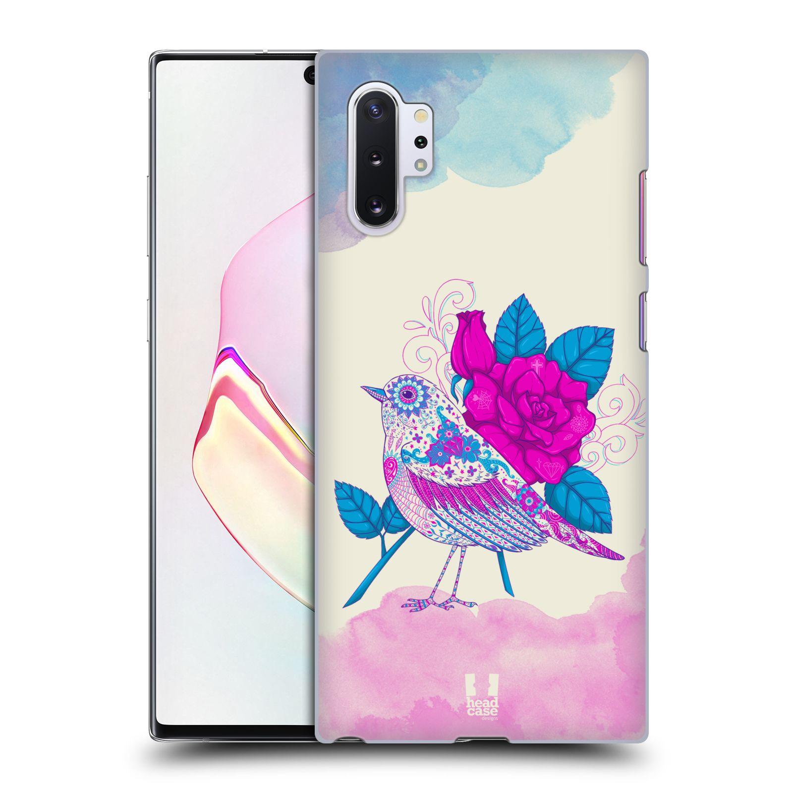 Plastové pouzdro na mobil Samsung Galaxy Note 10 Plus - Head Case - PTÁČEK FUCHSIA