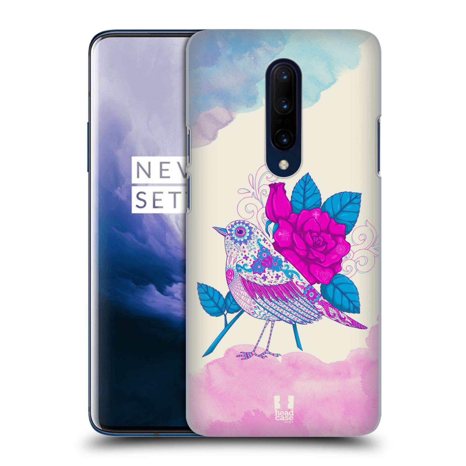 Plastové pouzdro na mobil OnePlus 7 Pro - Head Case - PTÁČEK FUCHSIA