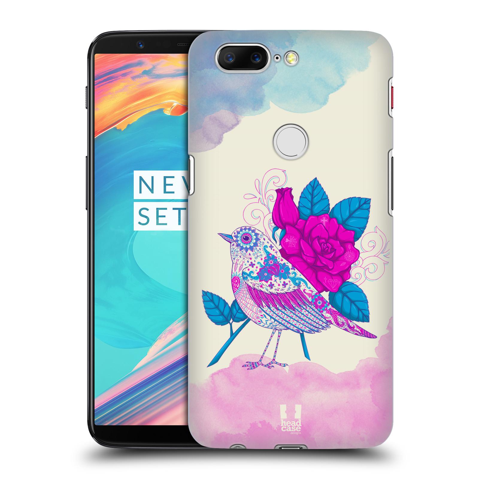 Plastové pouzdro na mobil OnePlus 5T - Head Case - PTÁČEK FUCHSIA