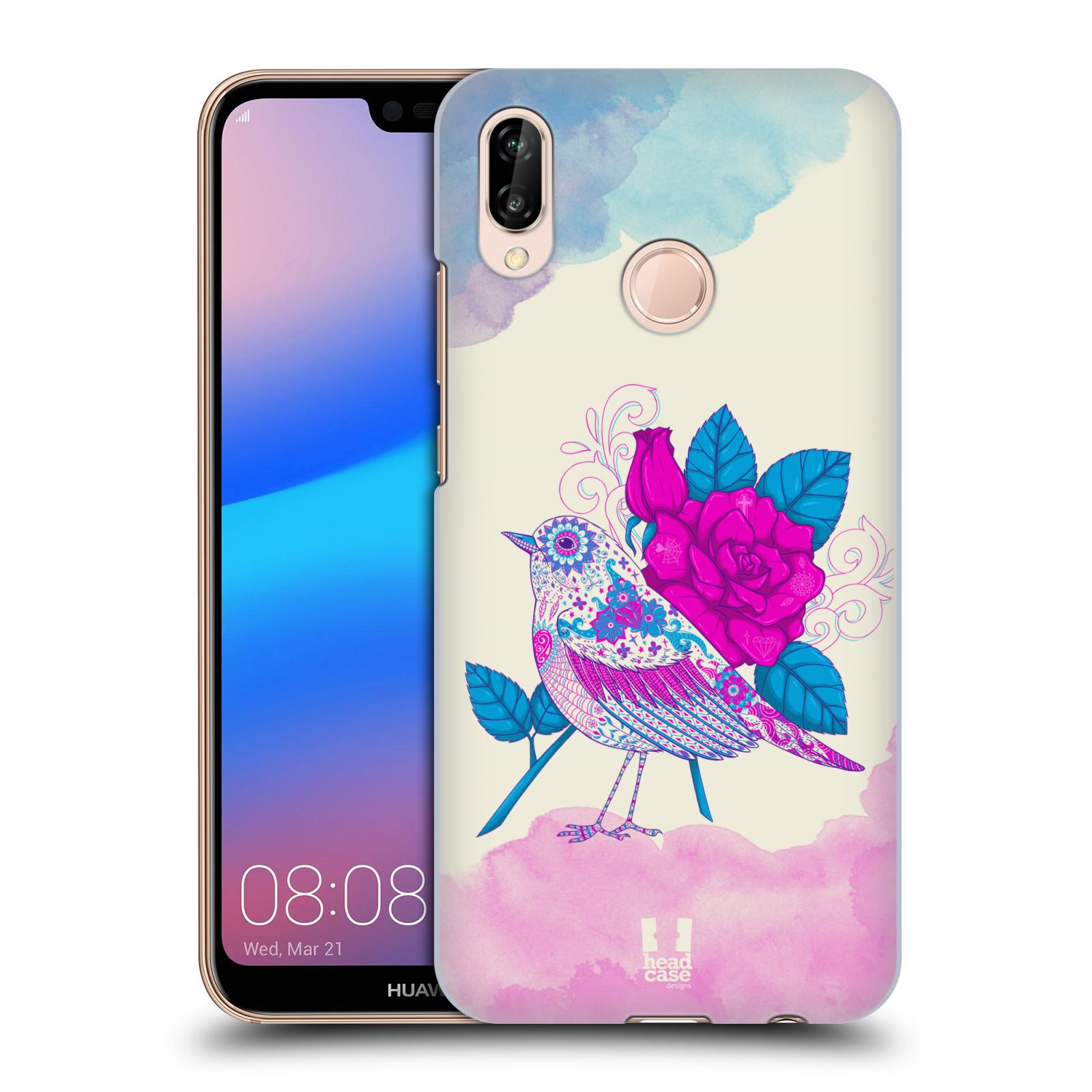 Plastové pouzdro na mobil Huawei P20 Lite - Head Case - PTÁČEK FUCHSIA