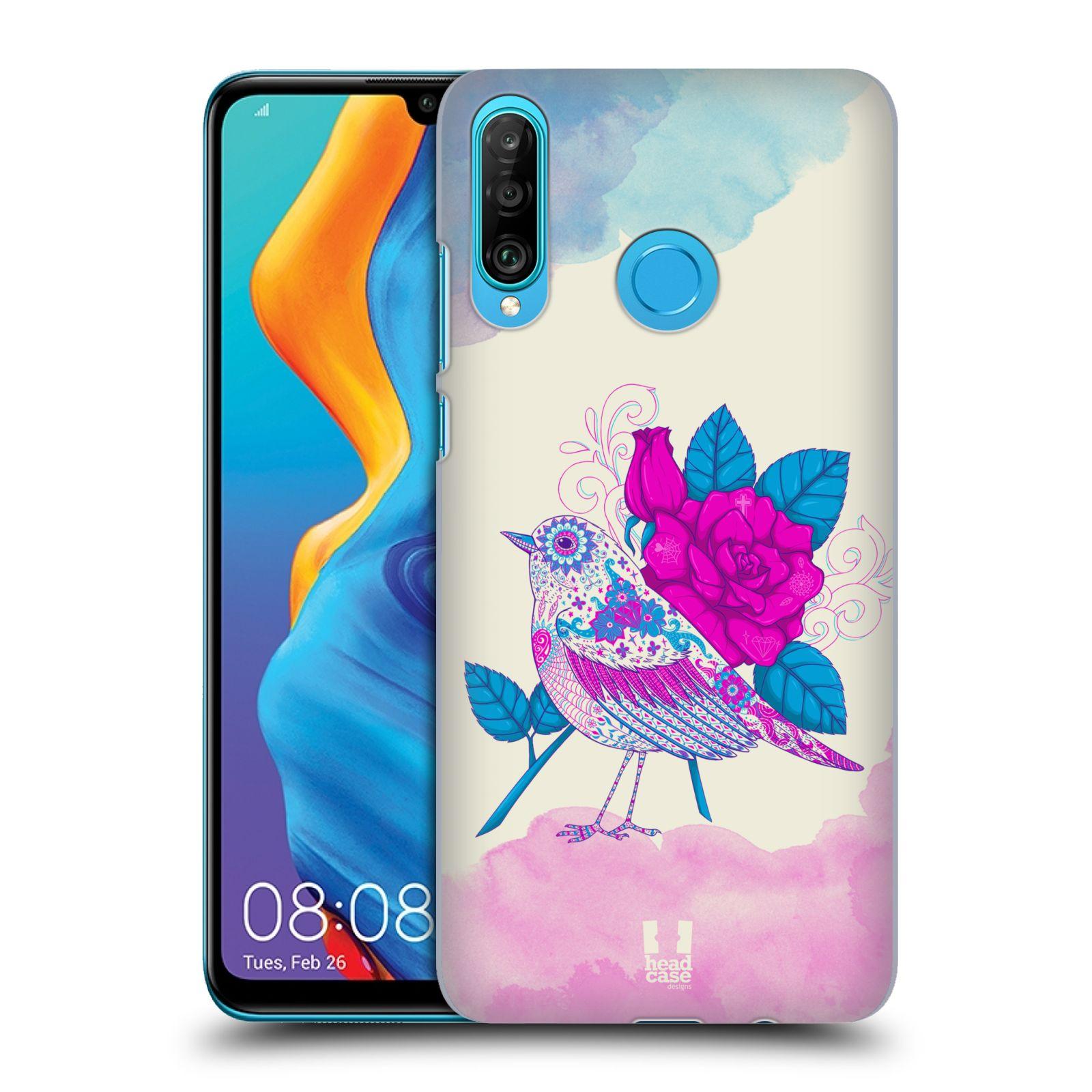 Plastové pouzdro na mobil Huawei P30 Lite - Head Case - PTÁČEK FUCHSIA