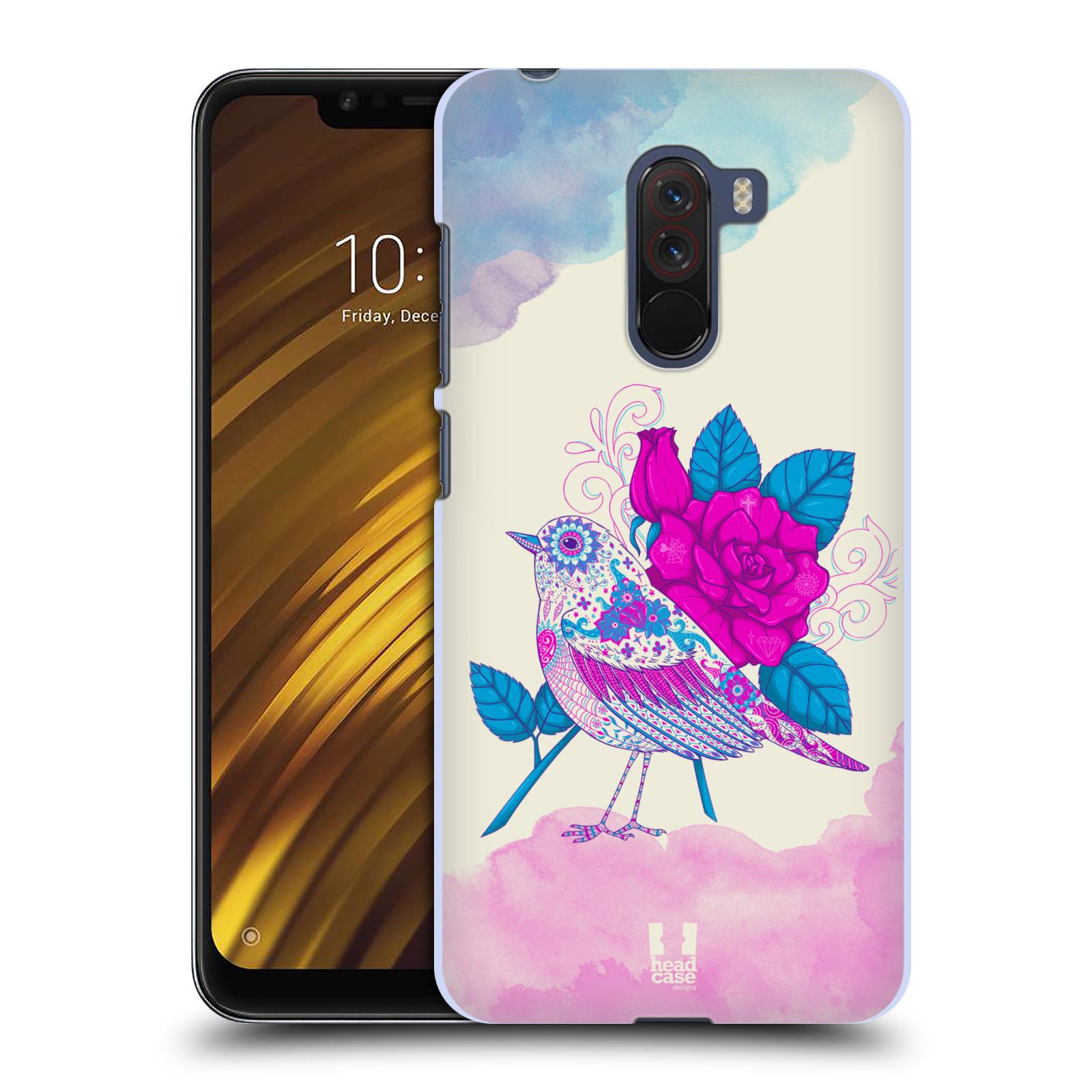 Plastové pouzdro na mobil Xiaomi Pocophone F1 - Head Case - PTÁČEK FUCHSIA