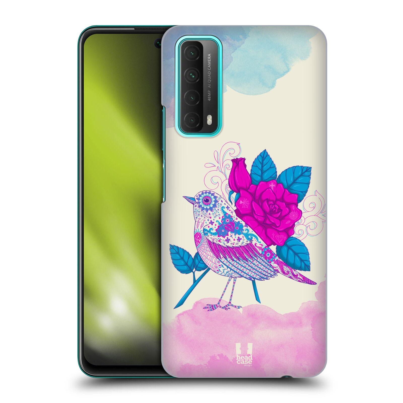 Plastové pouzdro na mobil Huawei P Smart (2021) - Head Case - PTÁČEK FUCHSIA