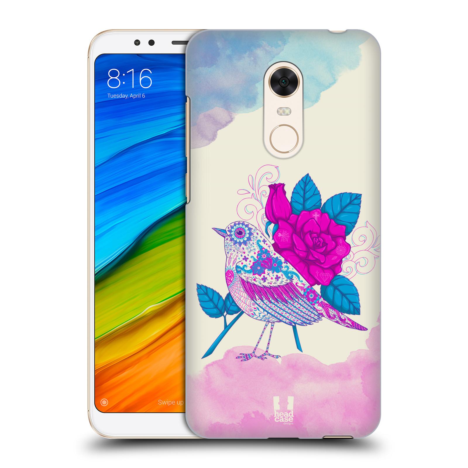 Plastové pouzdro na mobil Xiaomi Redmi 5 Plus - Head Case - PTÁČEK FUCHSIA