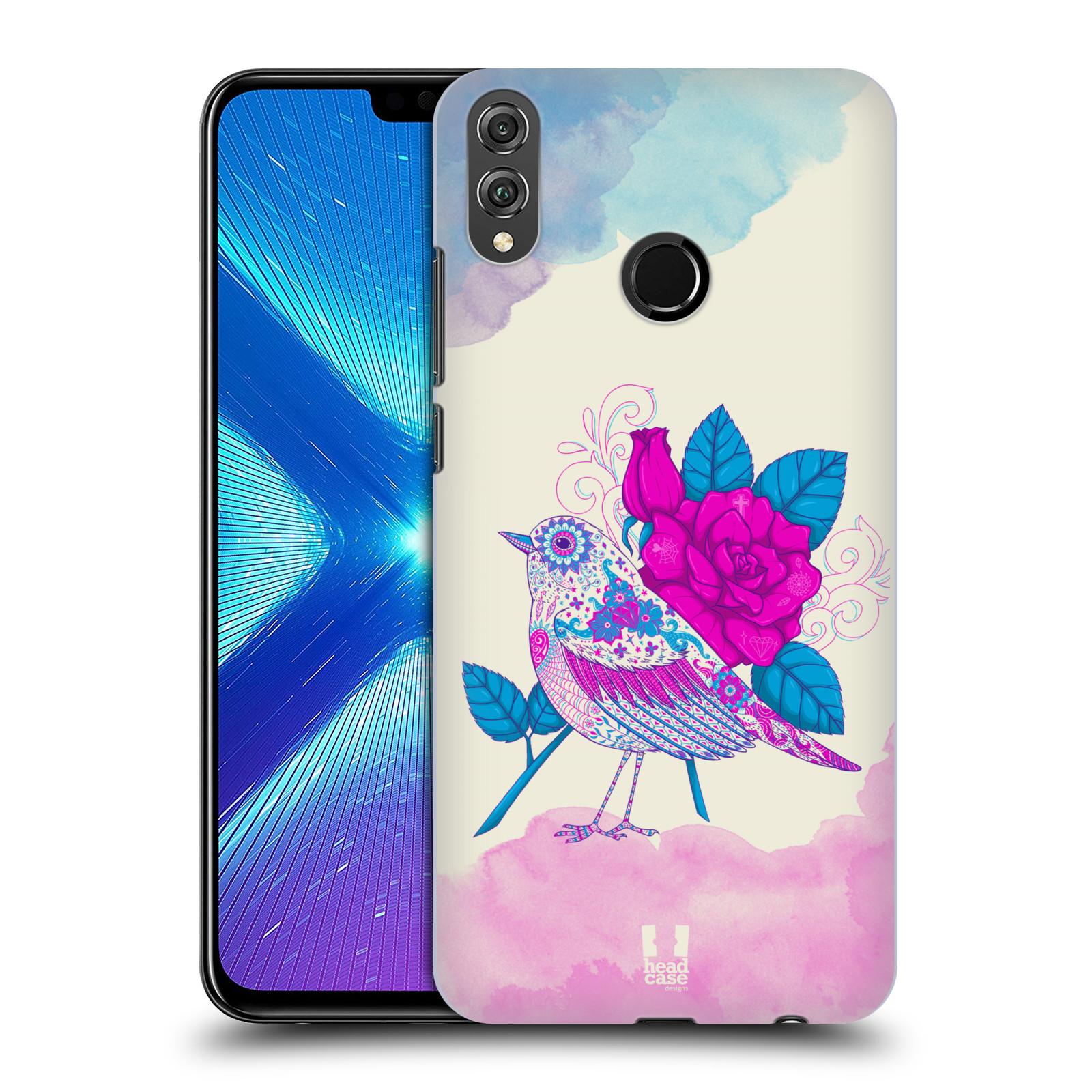 Plastové pouzdro na mobil Honor 8X - Head Case - PTÁČEK FUCHSIA