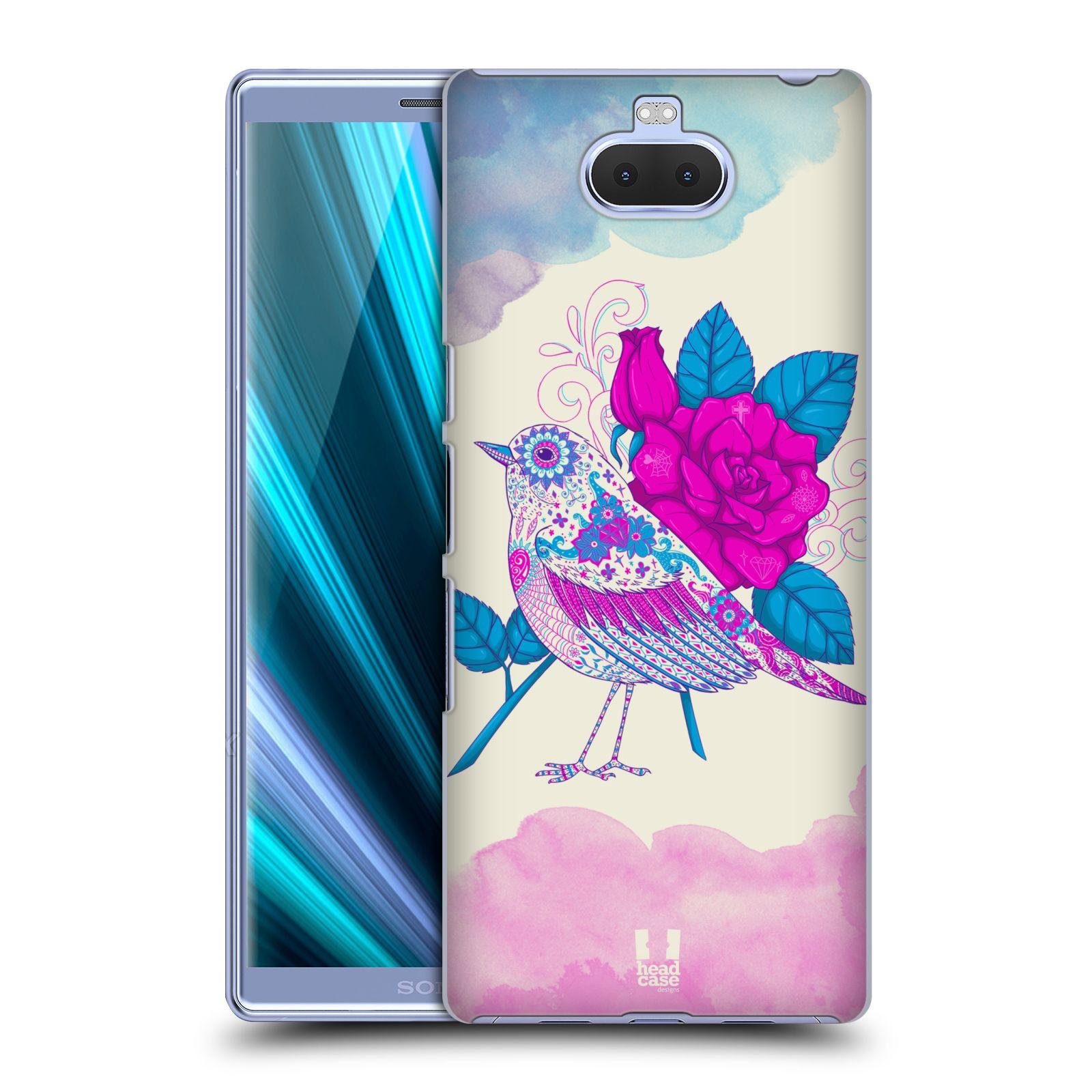 Plastové pouzdro na mobil Sony Xperia 10 Plus - Head Case - PTÁČEK FUCHSIA