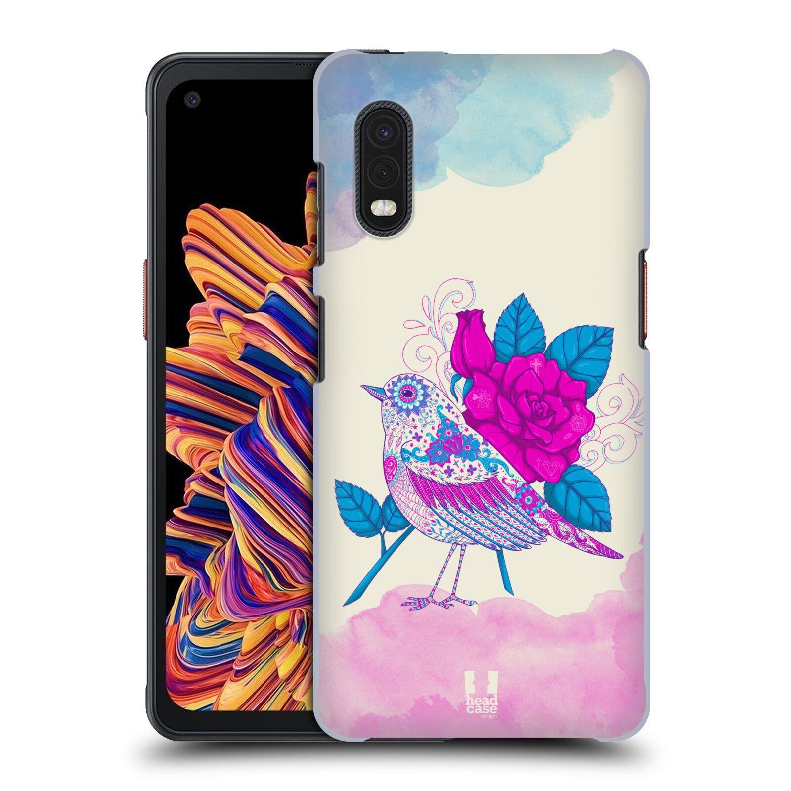 Plastové pouzdro na mobil Samsung Galaxy Xcover Pro - Head Case - PTÁČEK FUCHSIA