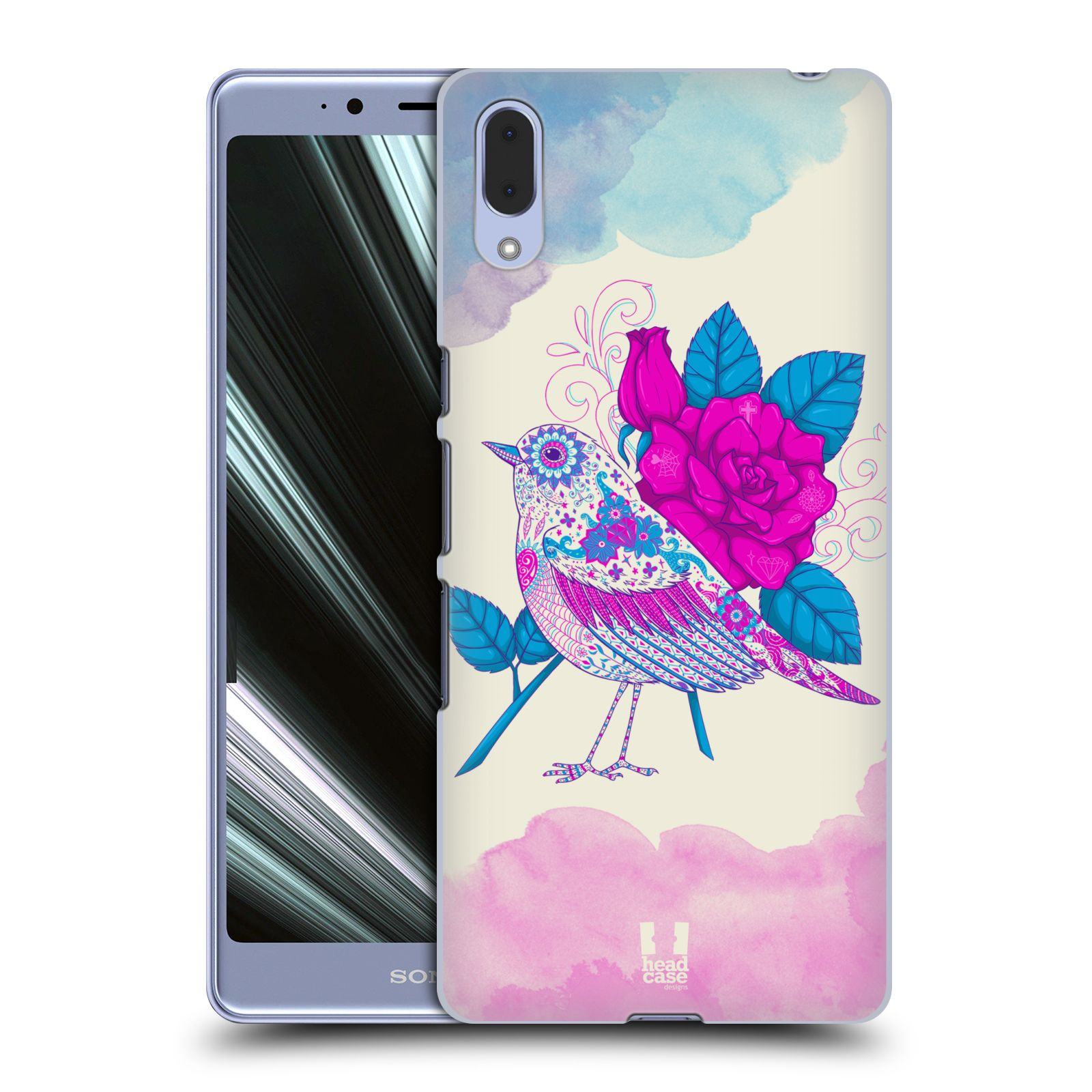 Plastové pouzdro na mobil Sony Xperia L3 - Head Case - PTÁČEK FUCHSIA