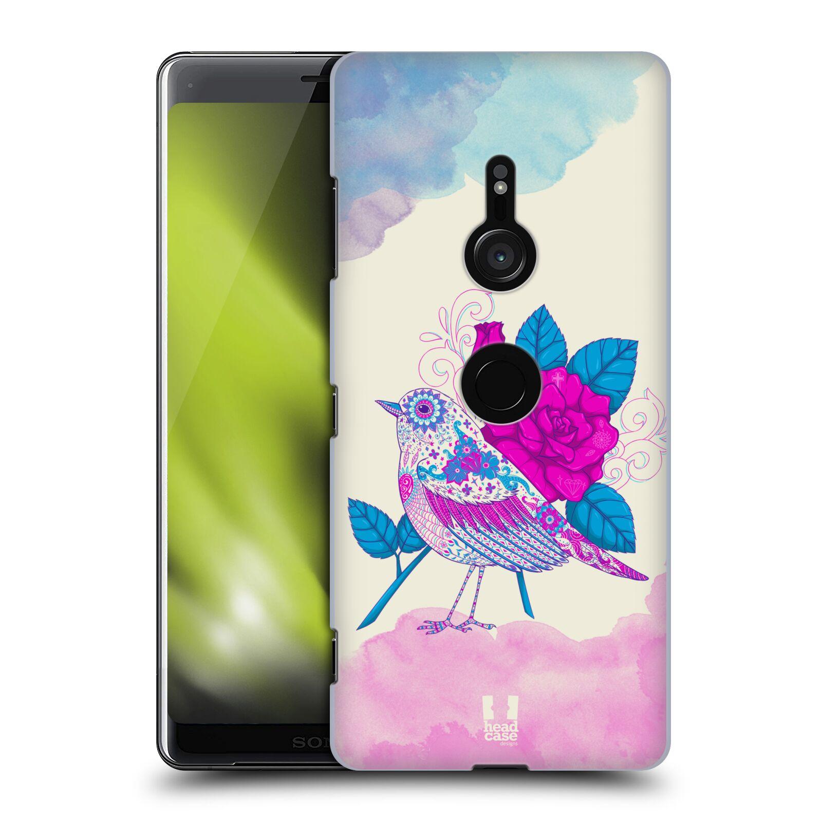 Plastové pouzdro na mobil Sony Xperia XZ3 - Head Case - PTÁČEK FUCHSIA
