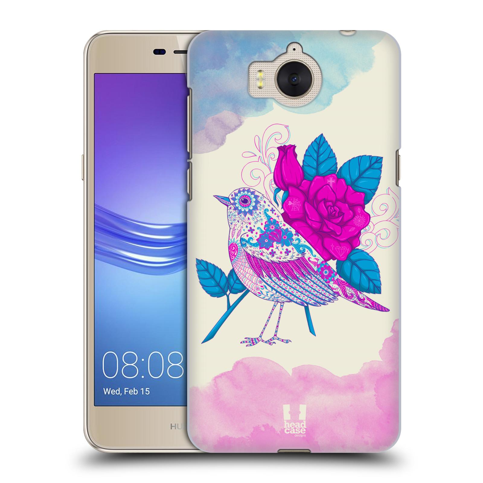 Plastové pouzdro na mobil Huawei Y6 2017 - Head Case - PTÁČEK FUCHSIA