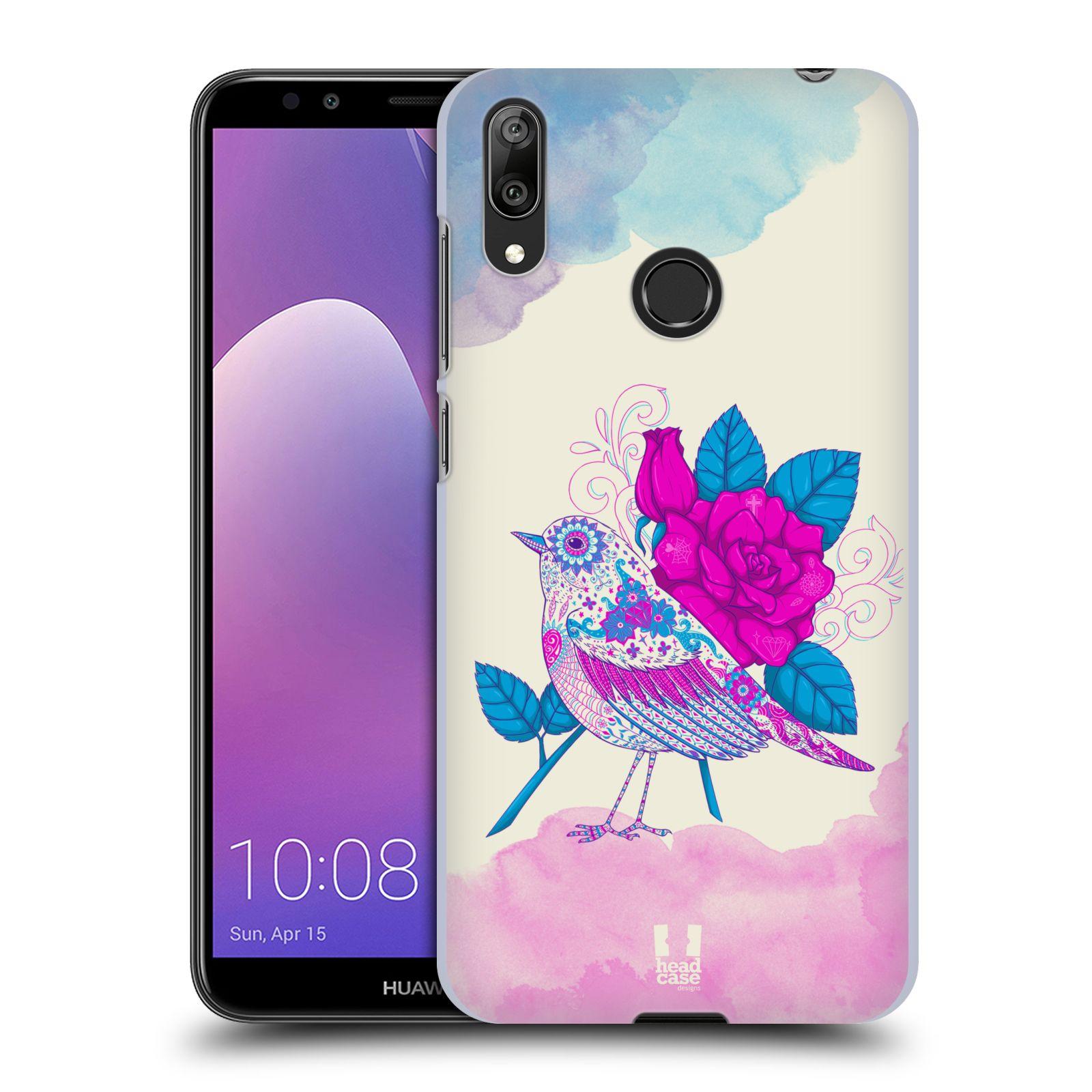 Plastové pouzdro na mobil Huawei Y7 (2019) - Head Case - PTÁČEK FUCHSIA