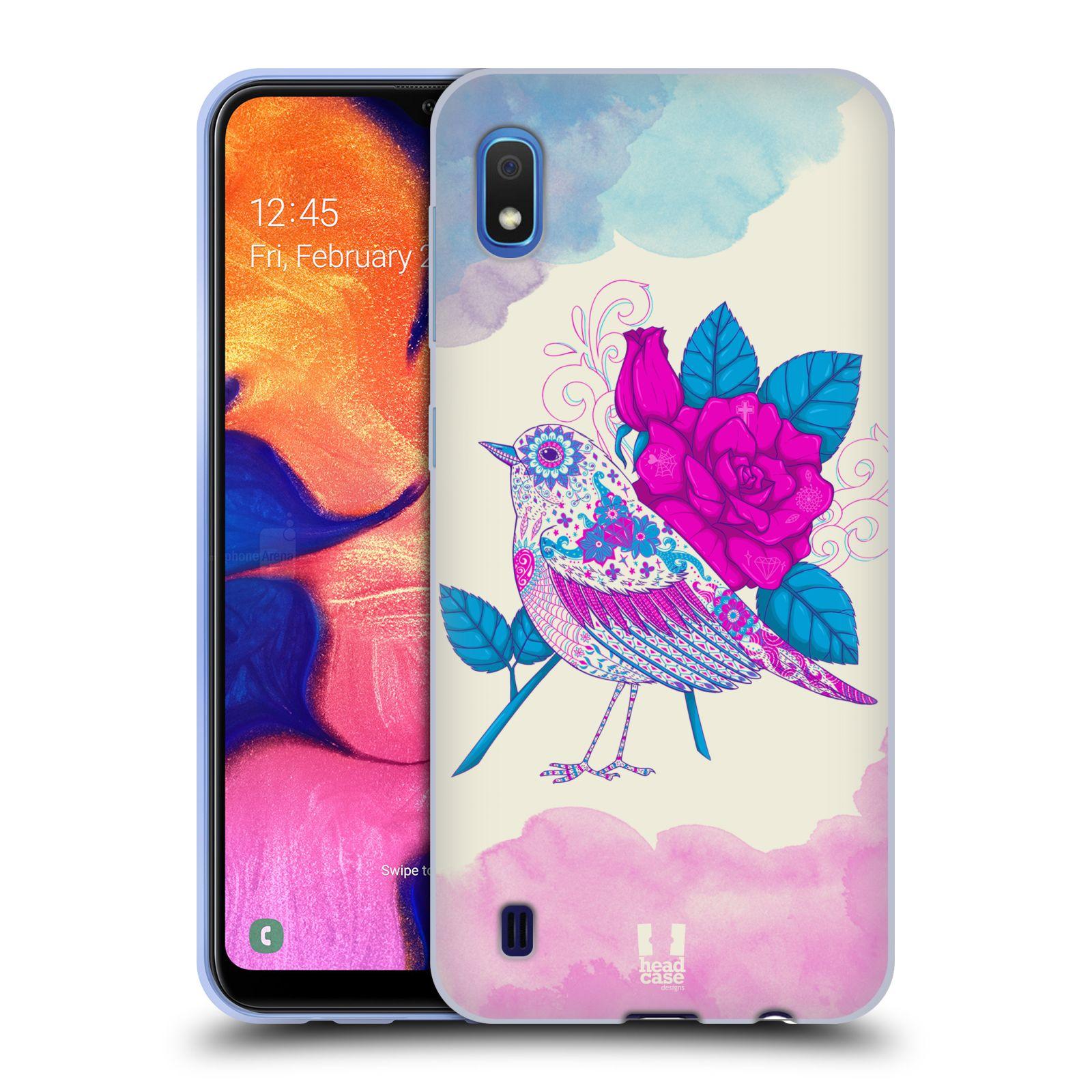 Silikonové pouzdro na mobil Samsung Galaxy A10 - Head Case - PTÁČEK FUCHSIA