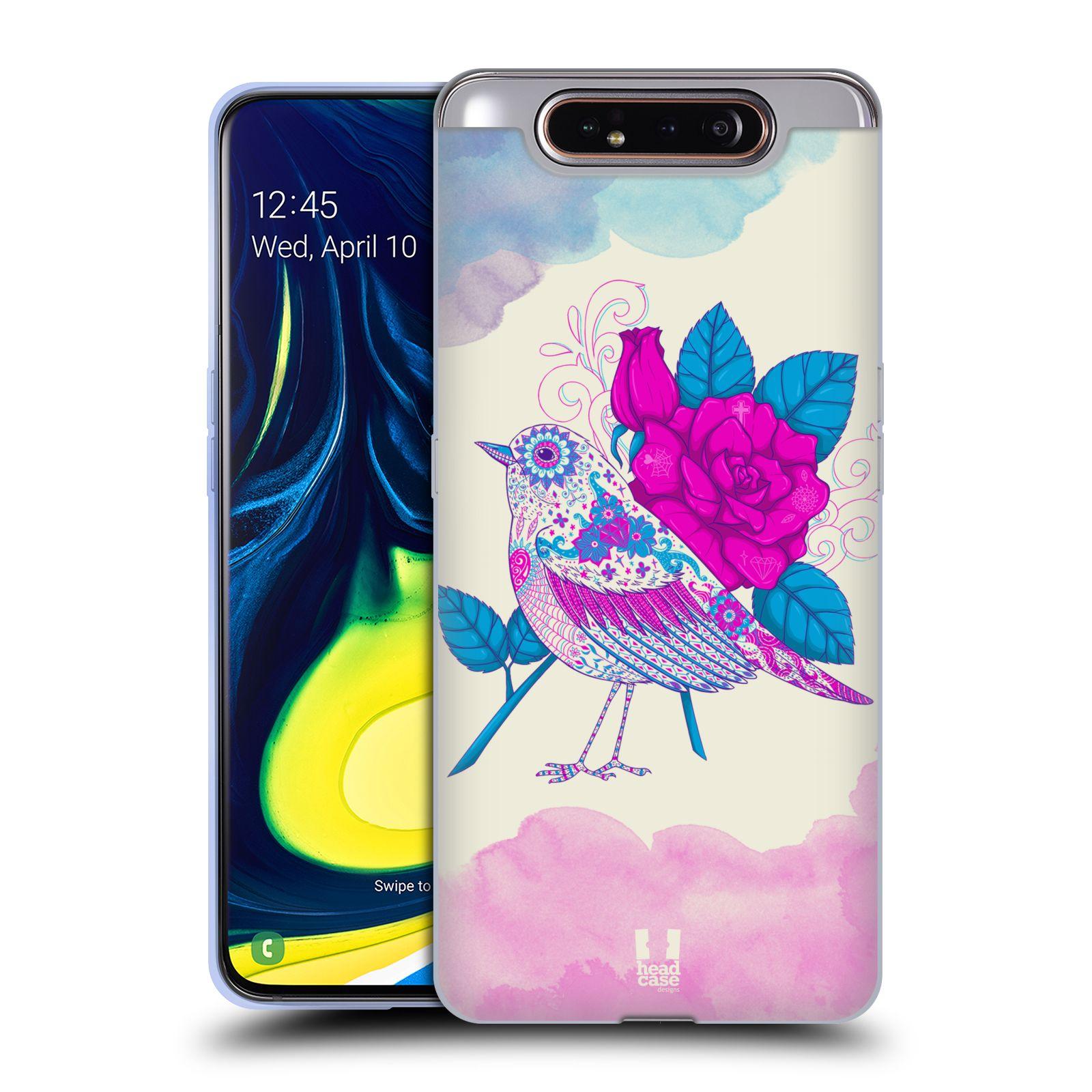 Silikonové pouzdro na mobil Samsung Galaxy A80 - Head Case - PTÁČEK FUCHSIA