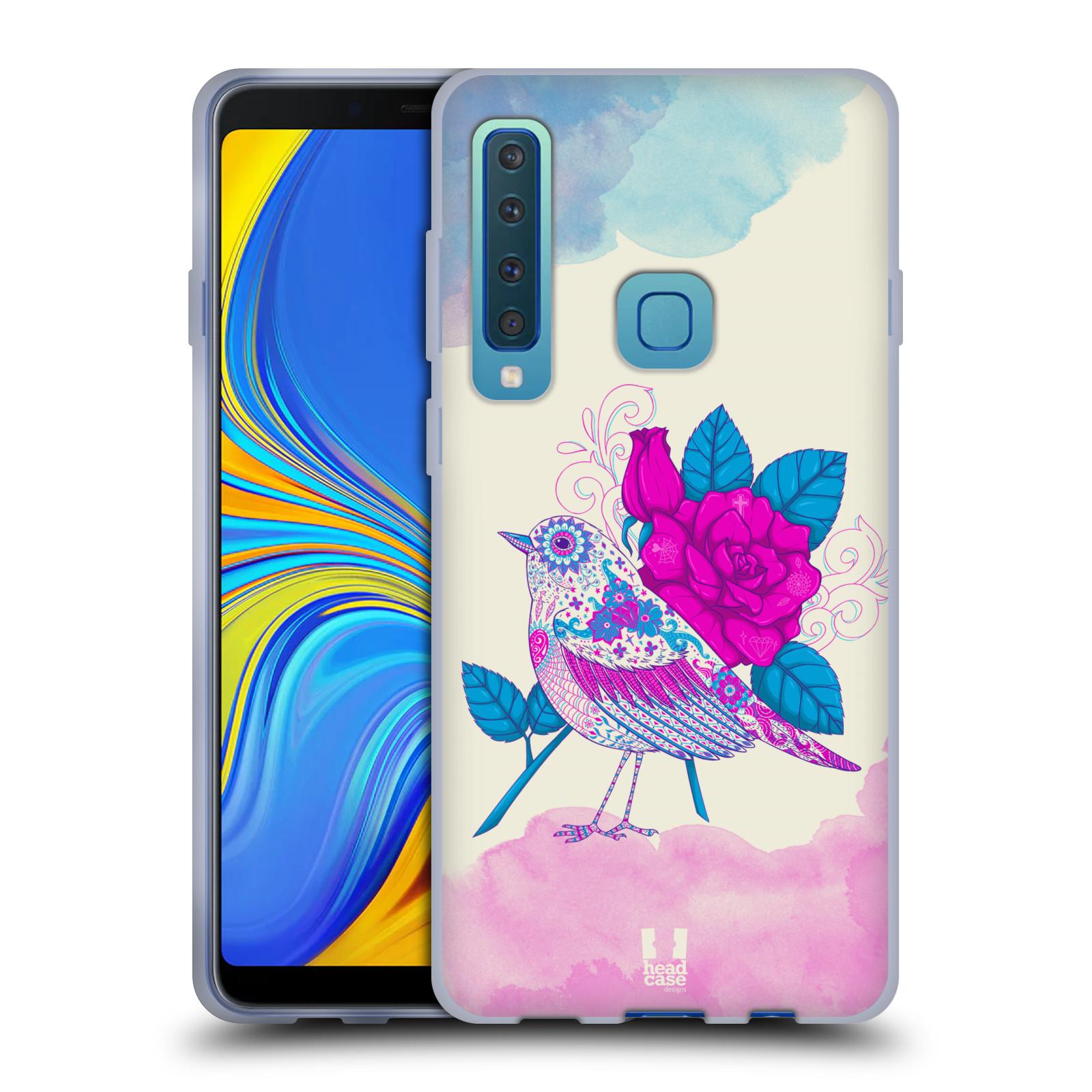 Silikonové pouzdro na mobil Samsung Galaxy A9 (2018) - Head Case - PTÁČEK FUCHSIA