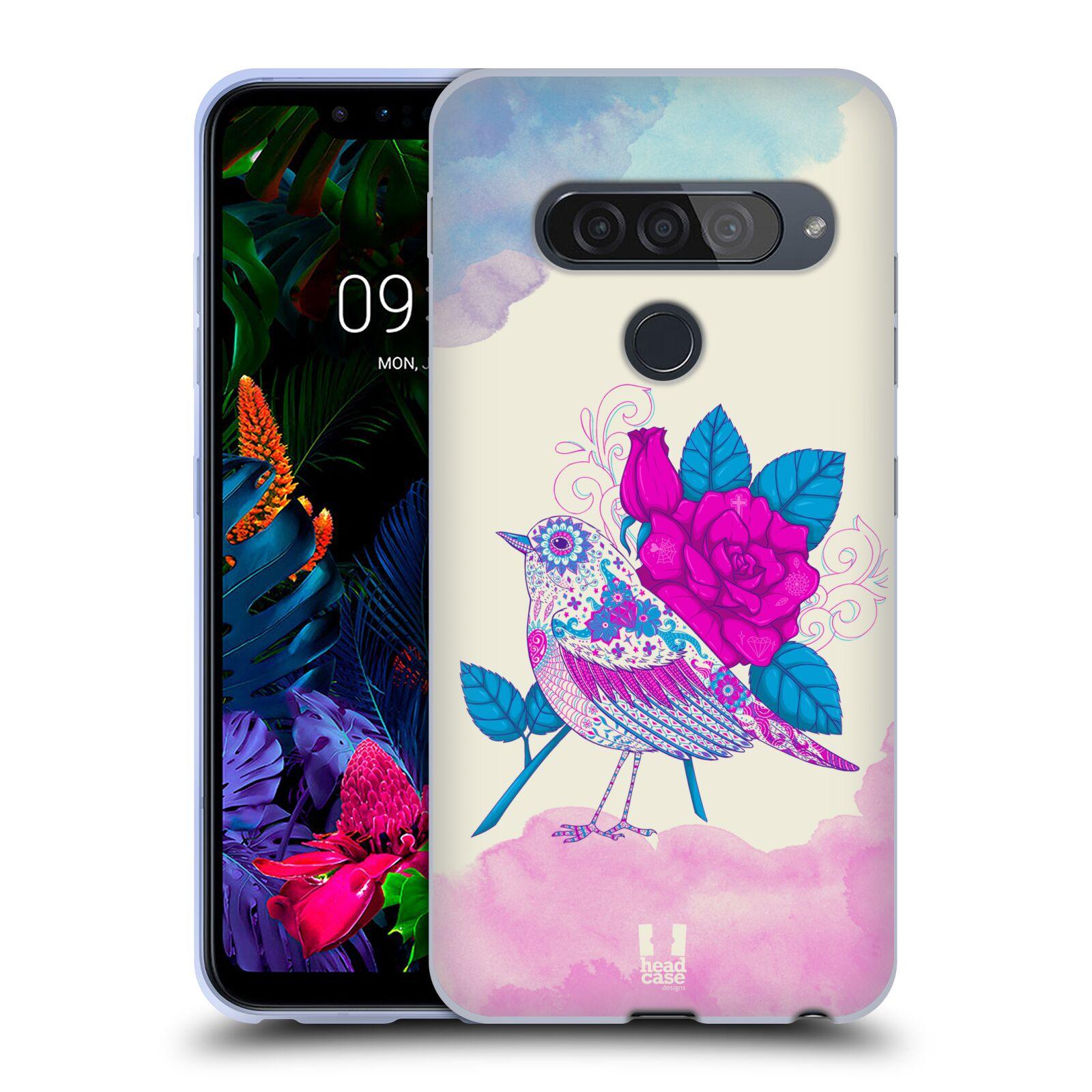 Silikonové pouzdro na mobil LG G8s ThinQ - Head Case - PTÁČEK FUCHSIA