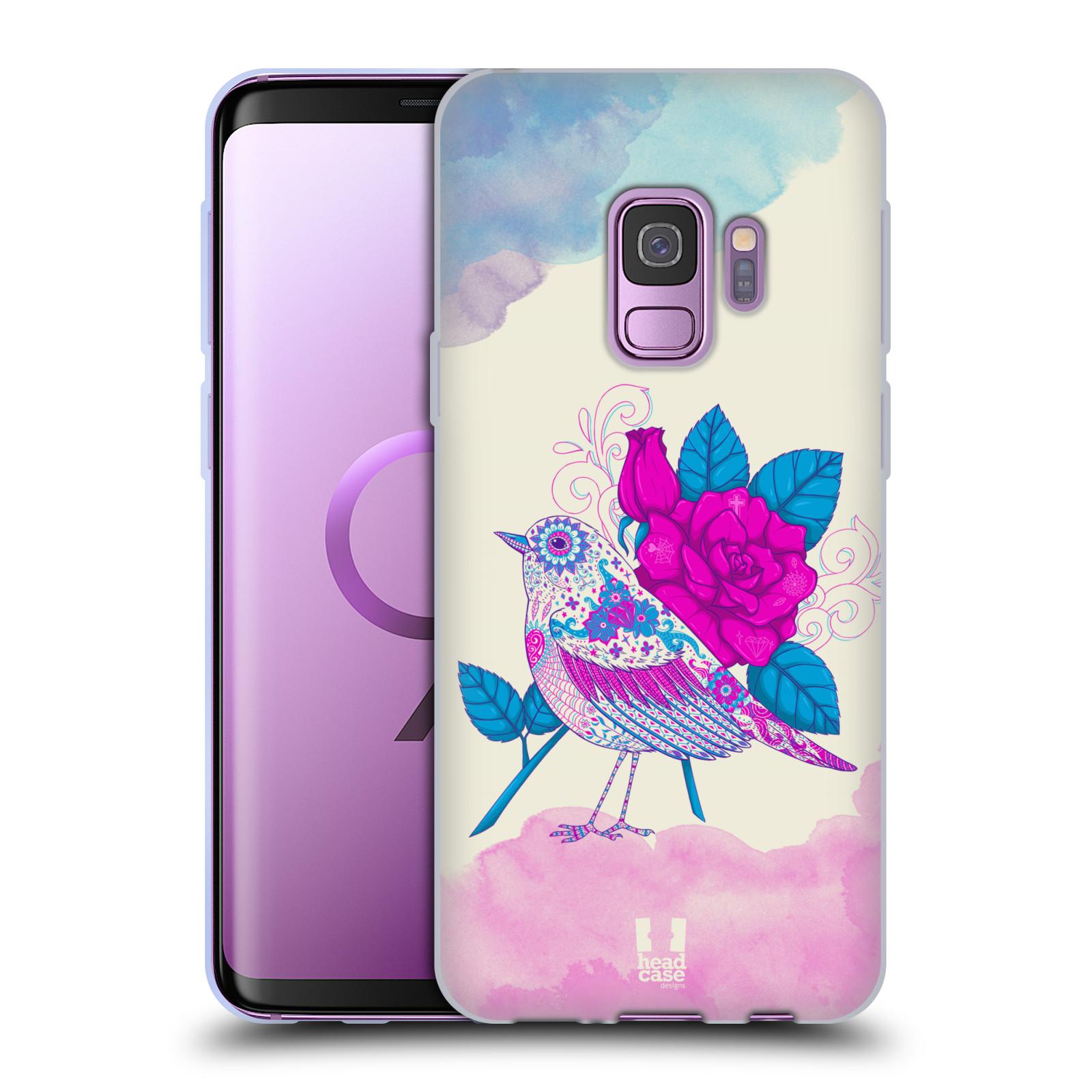 Silikonové pouzdro na mobil Samsung Galaxy S9 - Head Case - PTÁČEK FUCHSIA