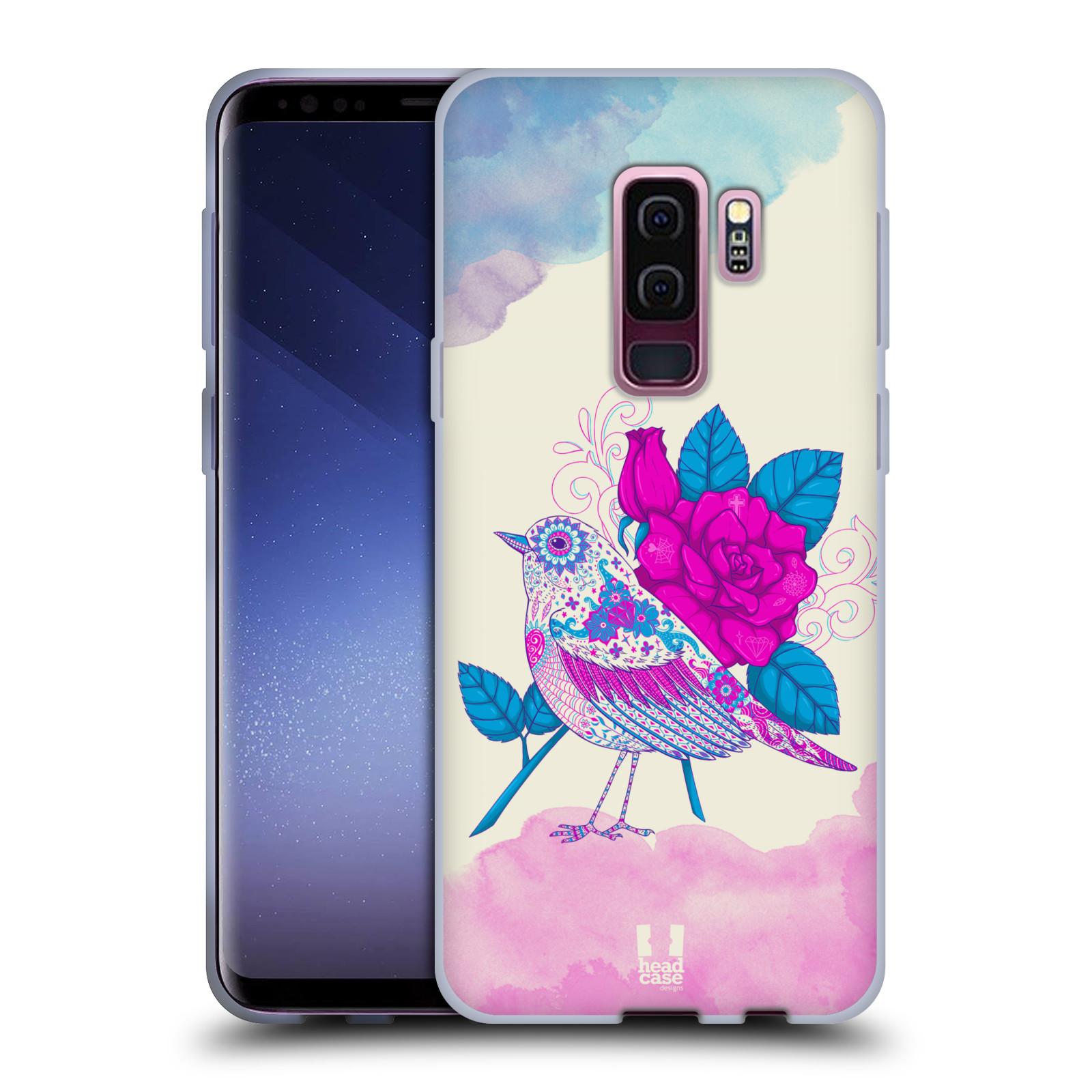 Silikonové pouzdro na mobil Samsung Galaxy S9 Plus - Head Case - PTÁČEK FUCHSIA