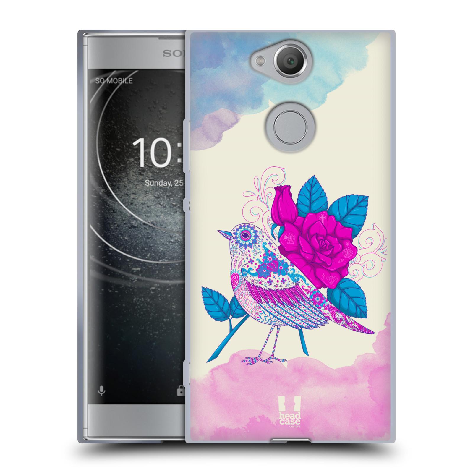 Silikonové pouzdro na mobil Sony Xperia XA2 - Head Case - PTÁČEK FUCHSIA