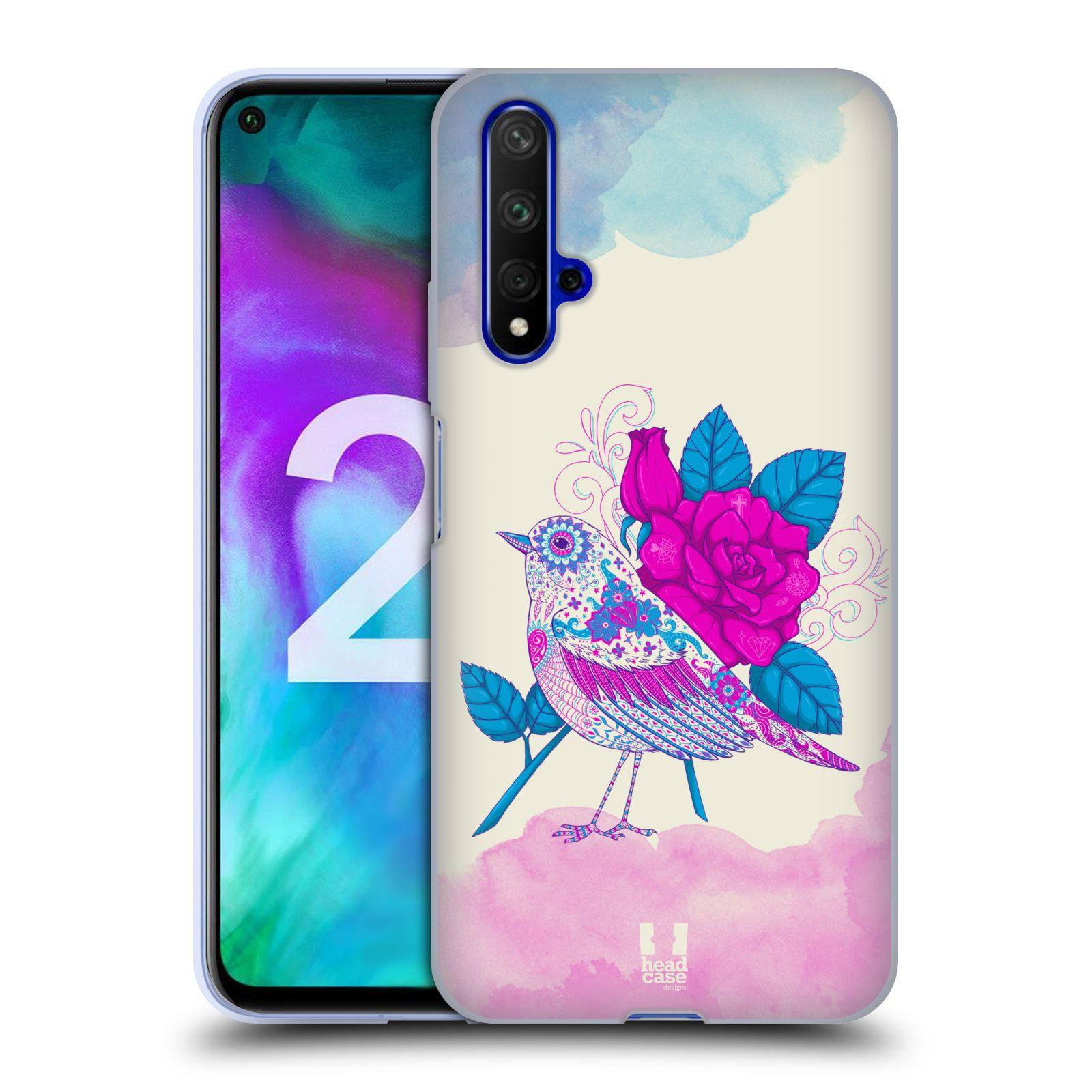 Silikonové pouzdro na mobil Honor 20 - Head Case - PTÁČEK FUCHSIA