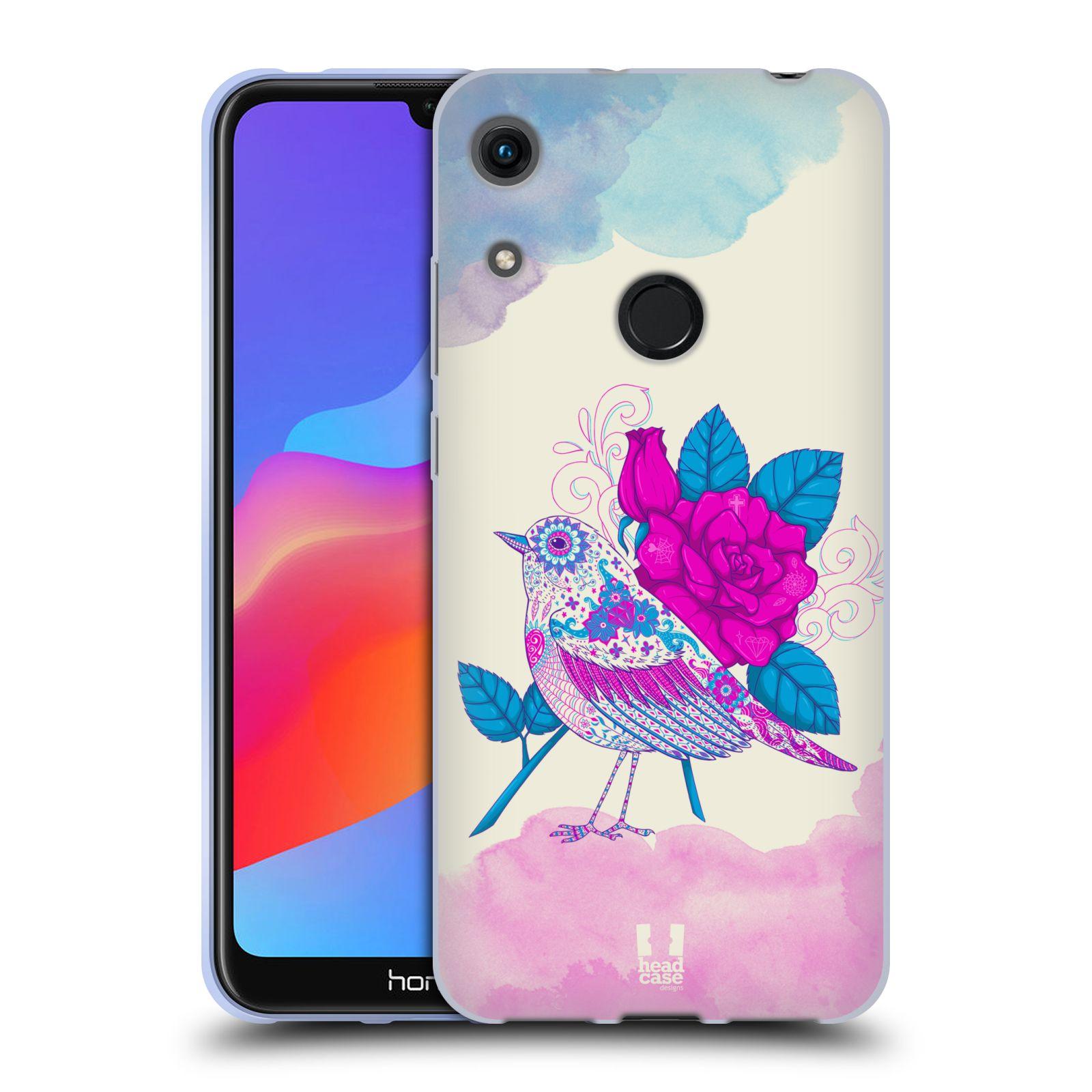 Silikonové pouzdro na mobil Honor 8A - Head Case - PTÁČEK FUCHSIA
