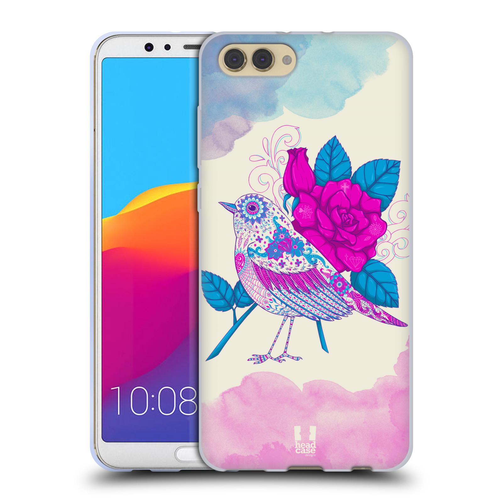 Silikonové pouzdro na mobil Honor View 10 - Head Case - PTÁČEK FUCHSIA