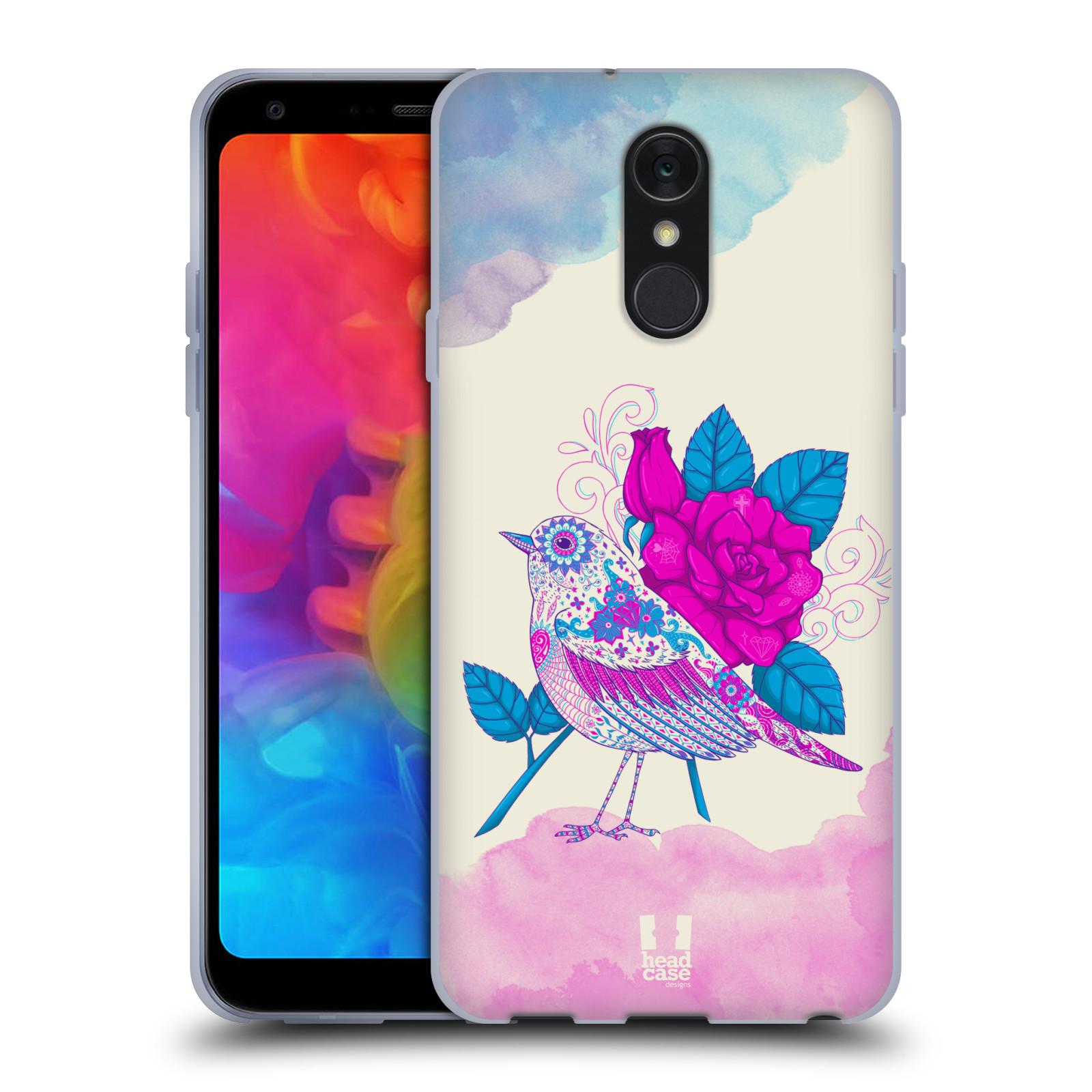 Silikonové pouzdro na mobil LG Q7 - Head Case - PTÁČEK FUCHSIA
