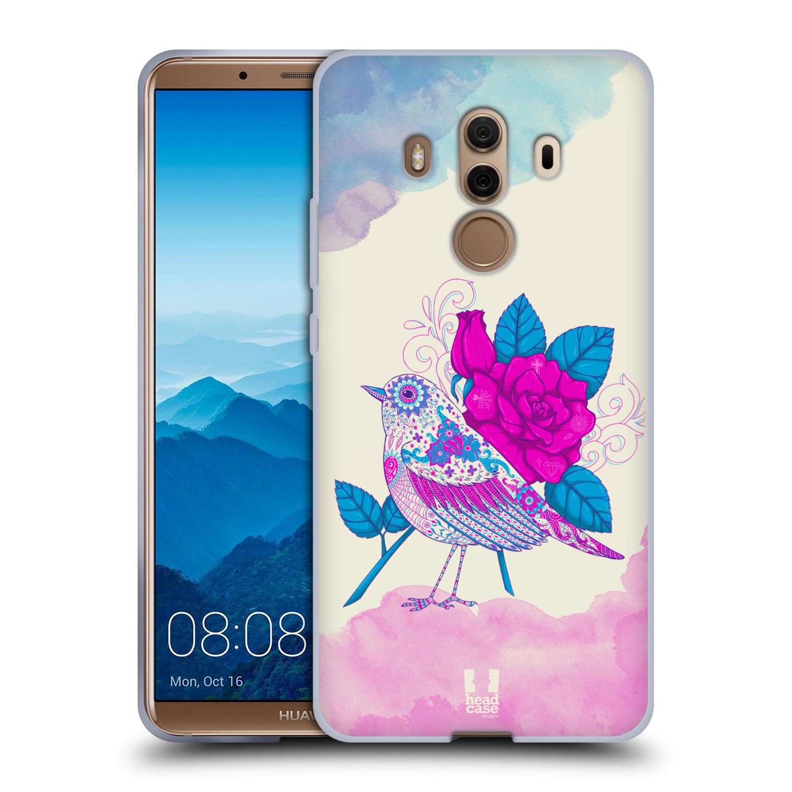 Silikonové pouzdro na mobil Huawei Mate 10 Pro - Head Case - PTÁČEK FUCHSIA