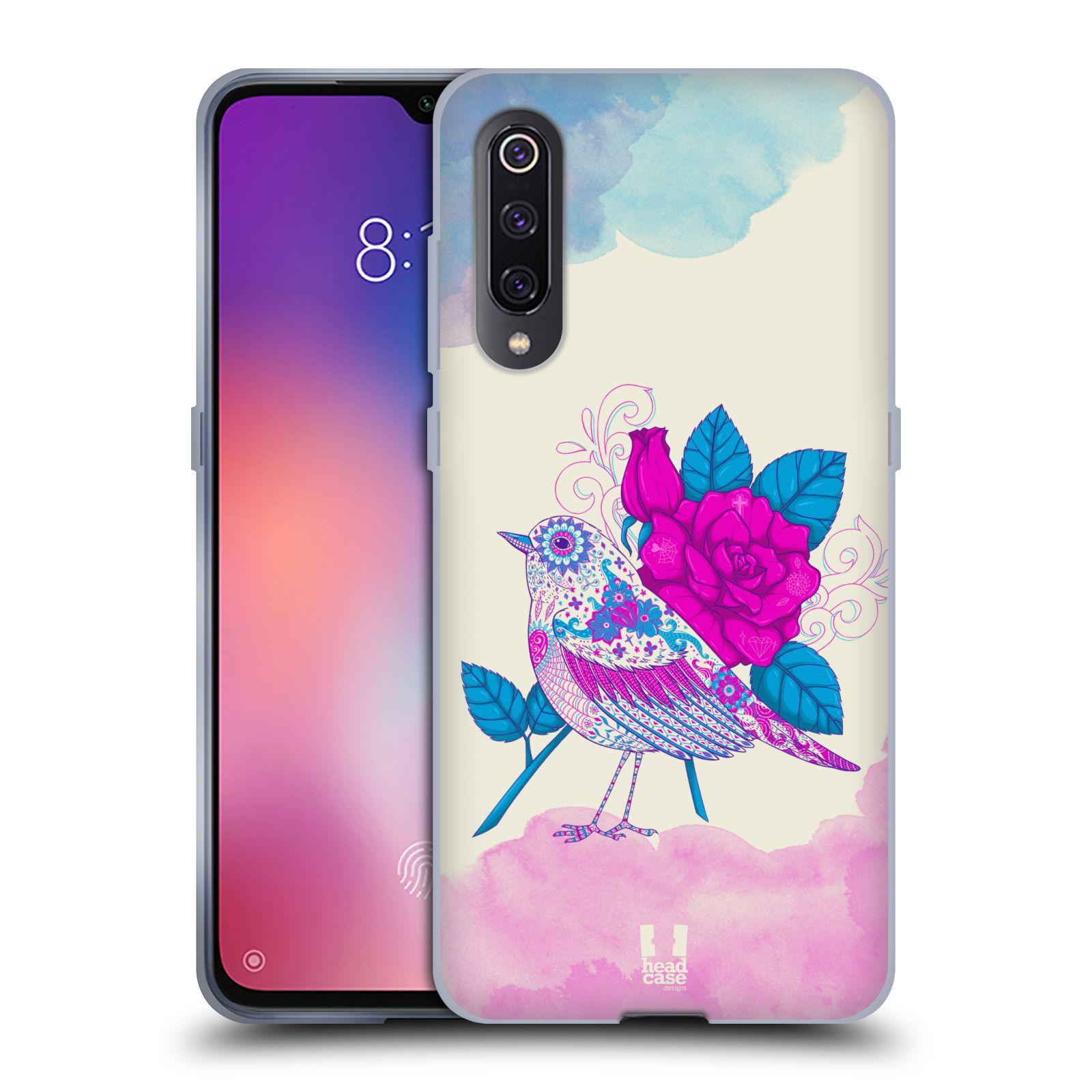 Silikonové pouzdro na mobil Xiaomi Mi 9 - Head Case - PTÁČEK FUCHSIA