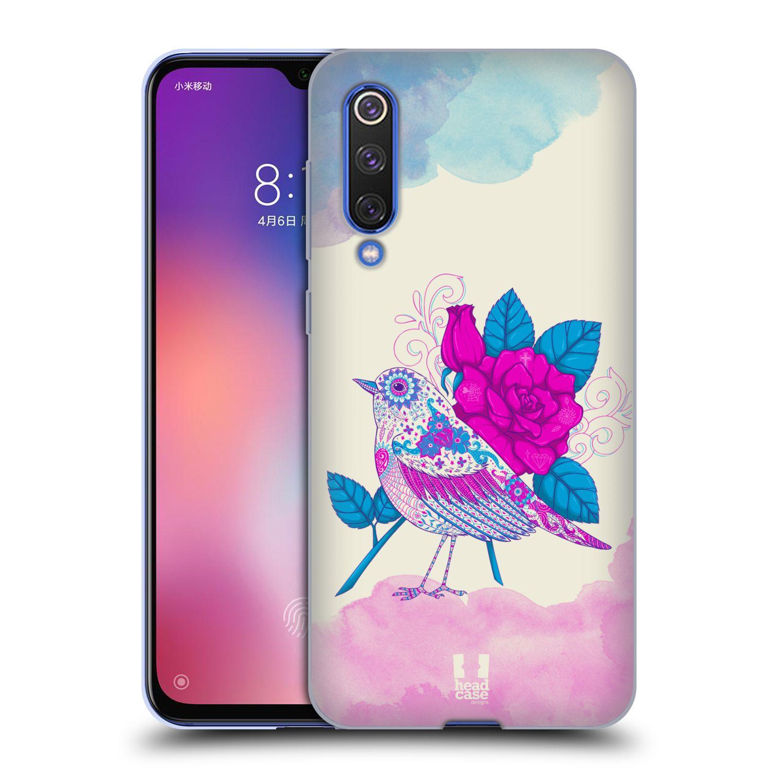 Silikonové pouzdro na mobil Xiaomi Mi 9 SE - Head Case - PTÁČEK FUCHSIA