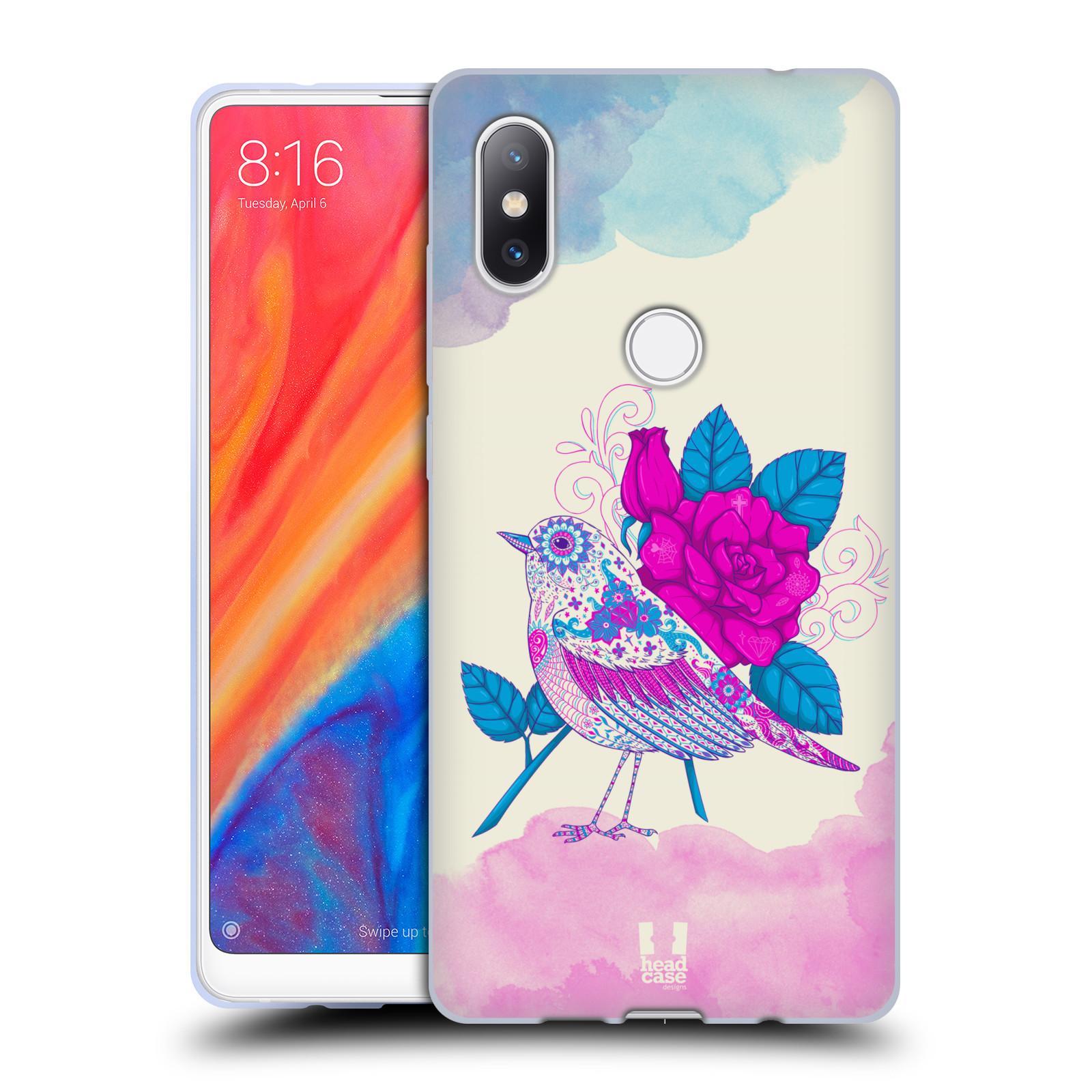 Silikonové pouzdro na mobil Xiaomi Mi Mix 2S - Head Case - PTÁČEK FUCHSIA