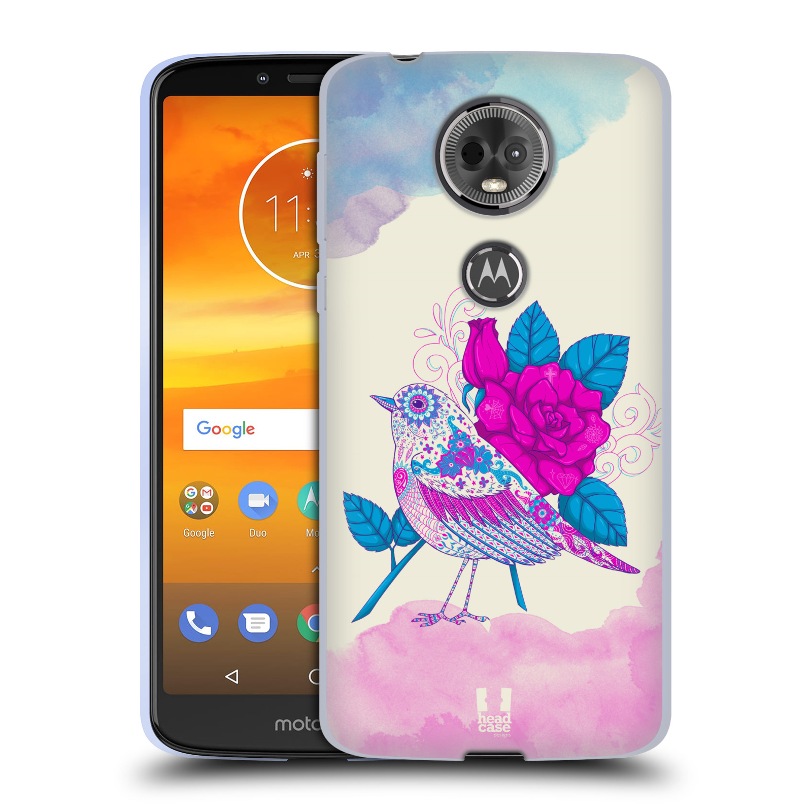 Silikonové pouzdro na mobil Motorola Moto E5 Plus - Head Case - PTÁČEK FUCHSIA