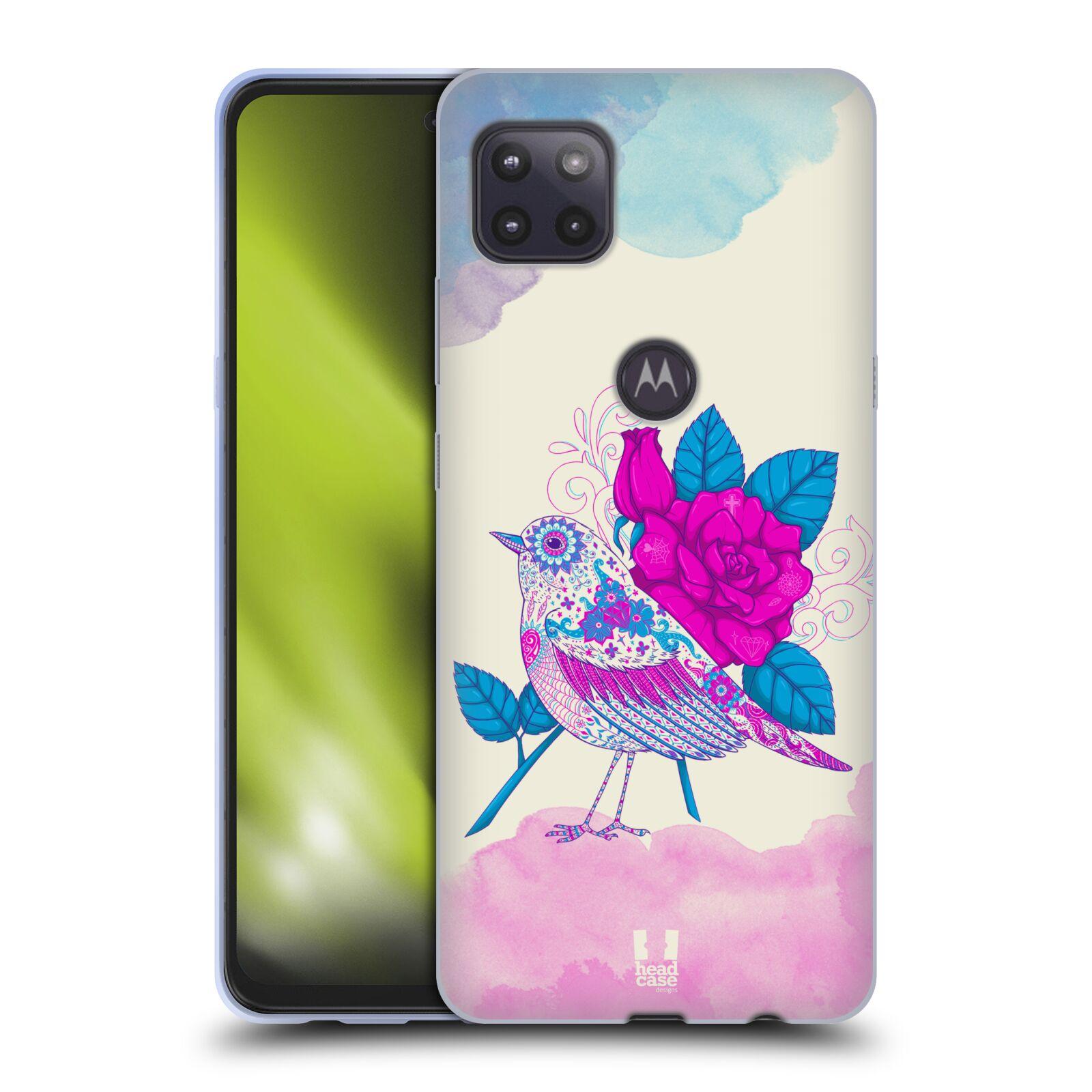 Silikonové pouzdro na mobil Motorola Moto G 5G - Head Case - PTÁČEK FUCHSIA
