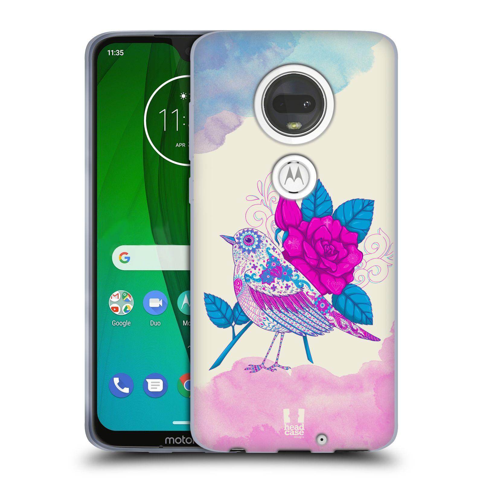 Silikonové pouzdro na mobil Motorola Moto G7 - Head Case - PTÁČEK FUCHSIA