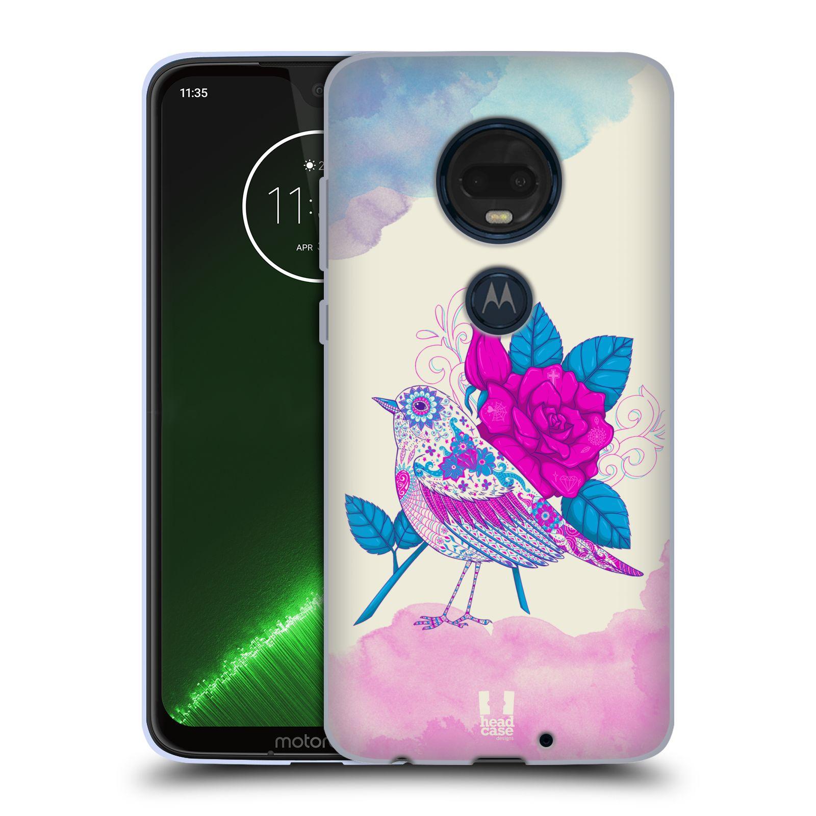 Silikonové pouzdro na mobil Motorola Moto G7 Plus - Head Case - PTÁČEK FUCHSIA