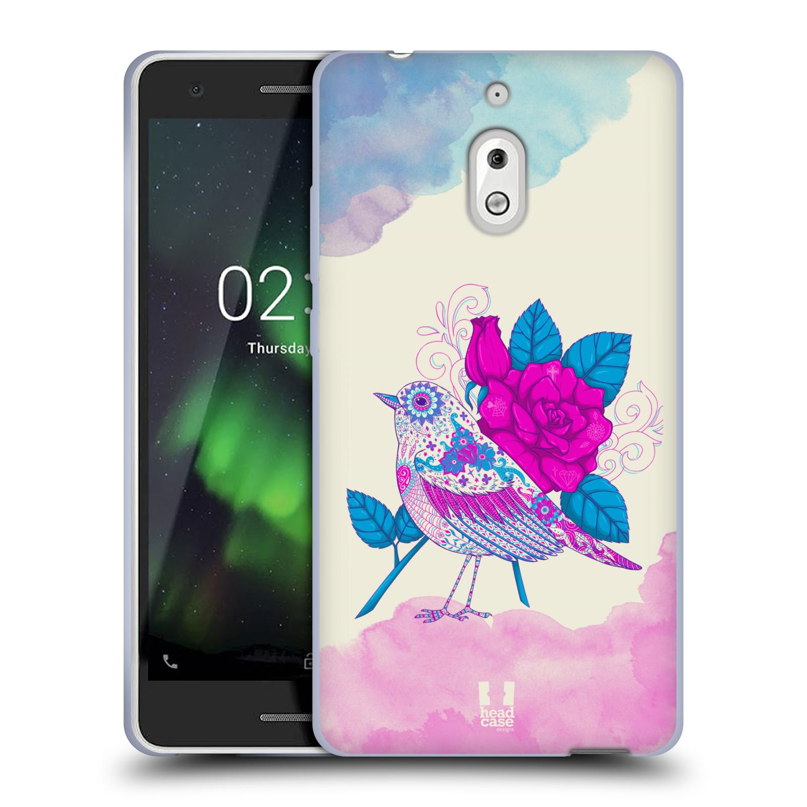 Silikonové pouzdro na mobil Nokia 2.1 - Head Case - PTÁČEK FUCHSIA