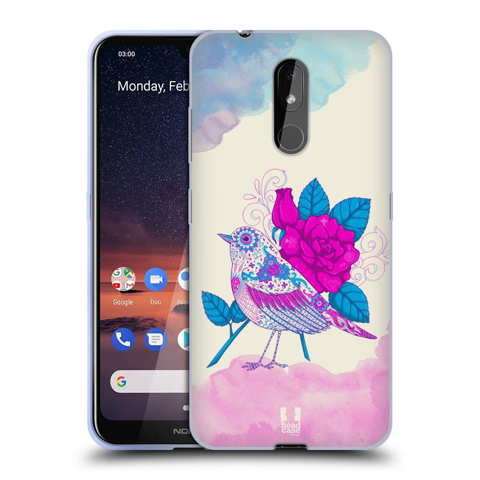 Silikonové pouzdro na mobil Nokia 3.2 - Head Case - PTÁČEK FUCHSIA