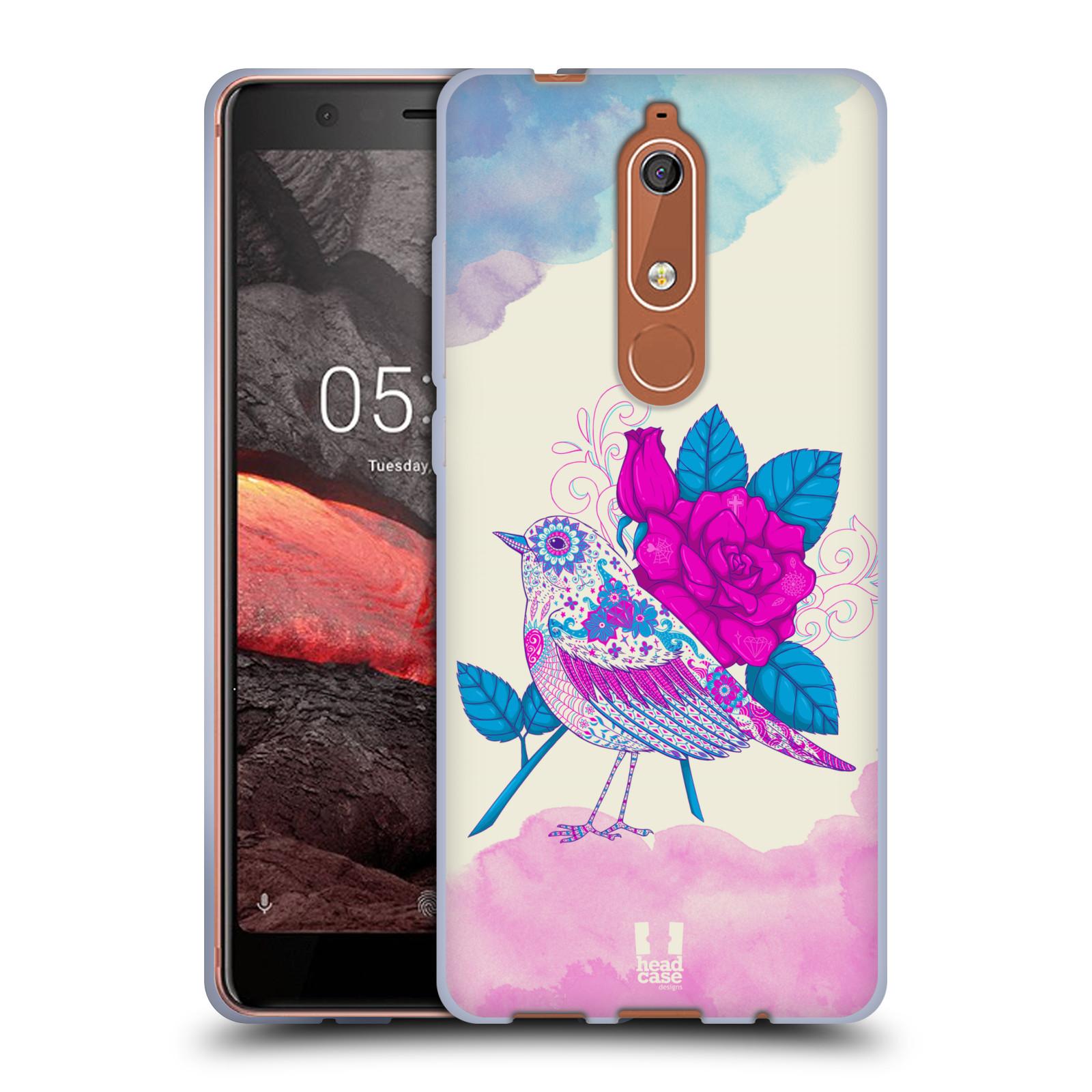 Silikonové pouzdro na mobil Nokia 5.1 - Head Case - PTÁČEK FUCHSIA