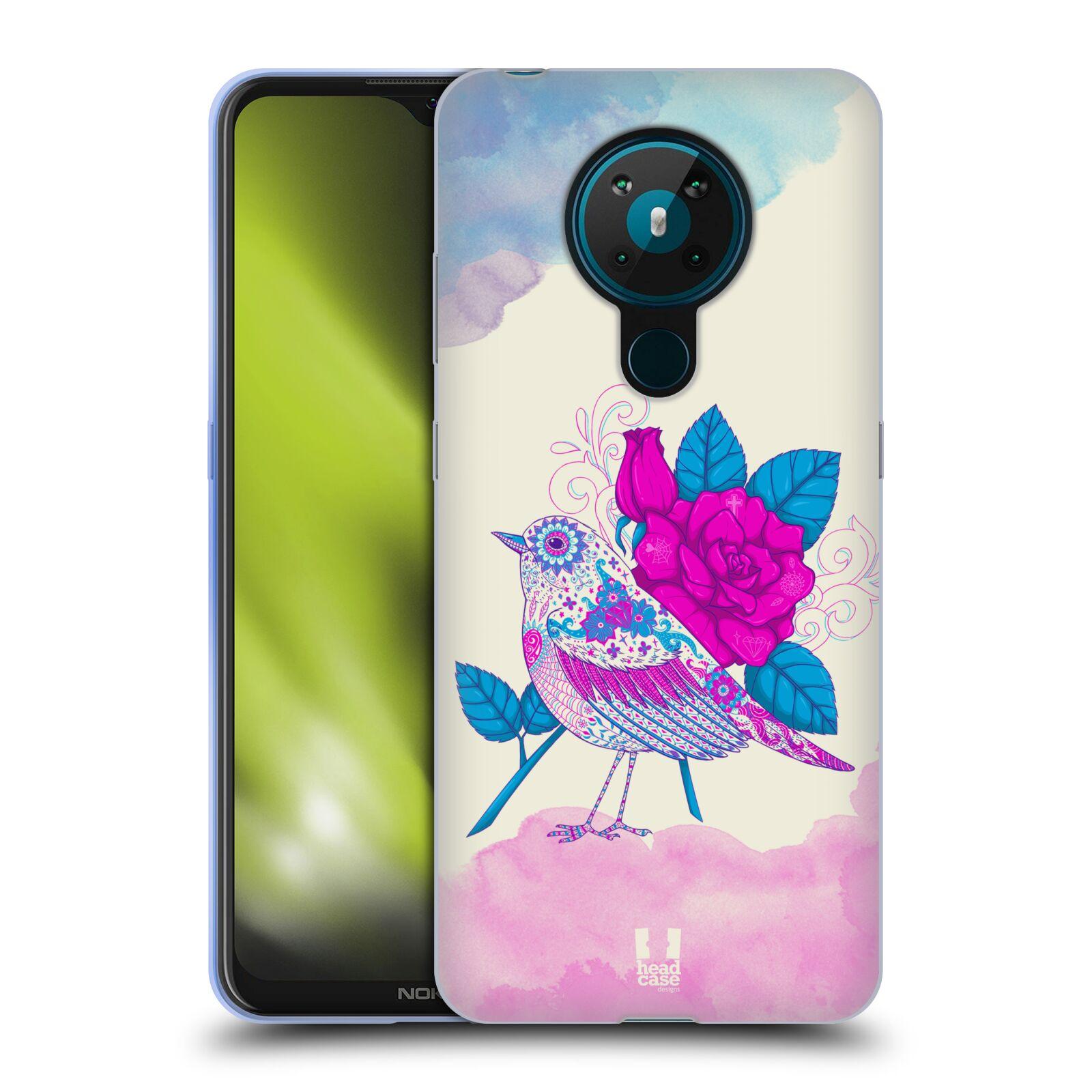 Silikonové pouzdro na mobil Nokia 5.3 - Head Case - PTÁČEK FUCHSIA