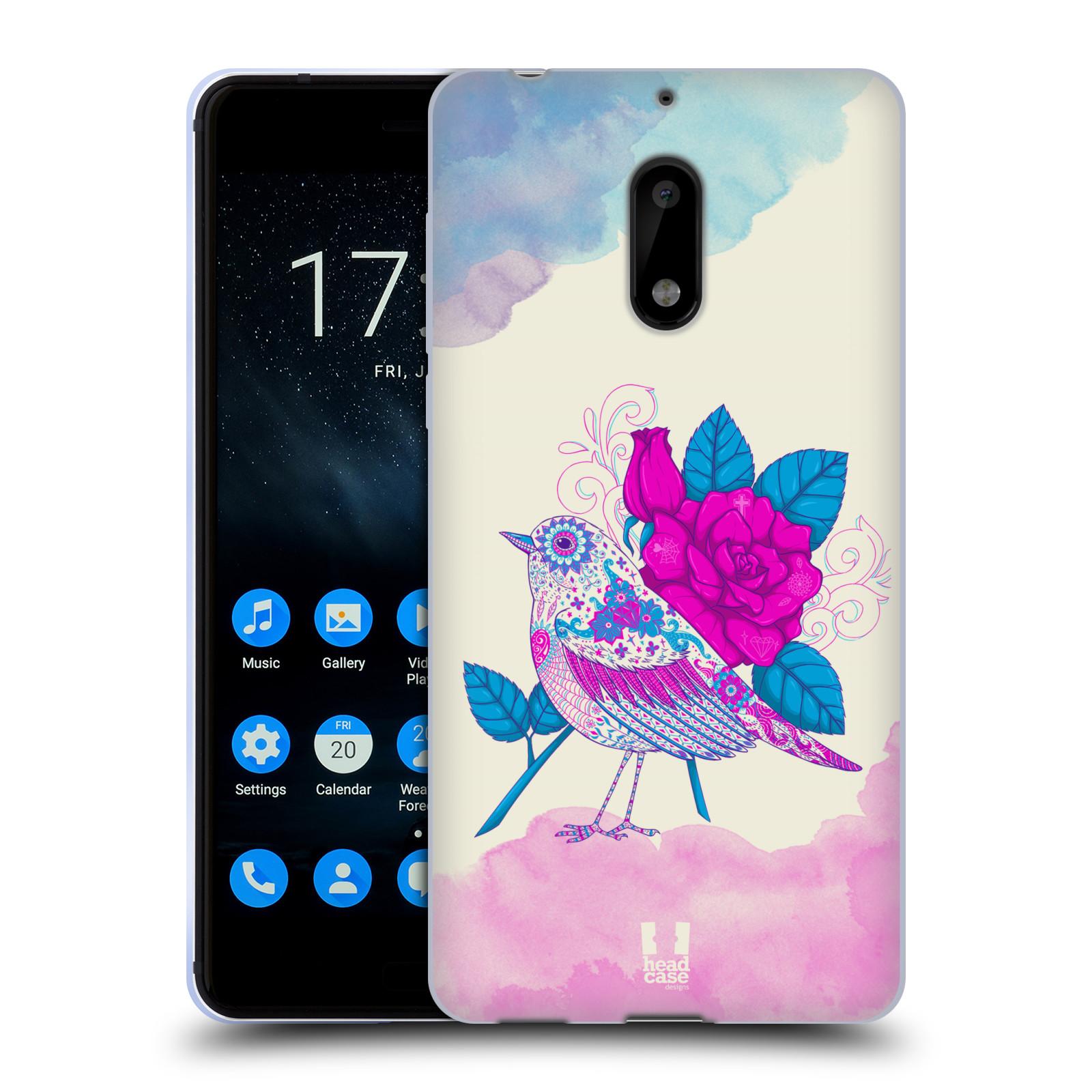 Silikonové pouzdro na mobil Nokia 6 - Head Case - PTÁČEK FUCHSIA