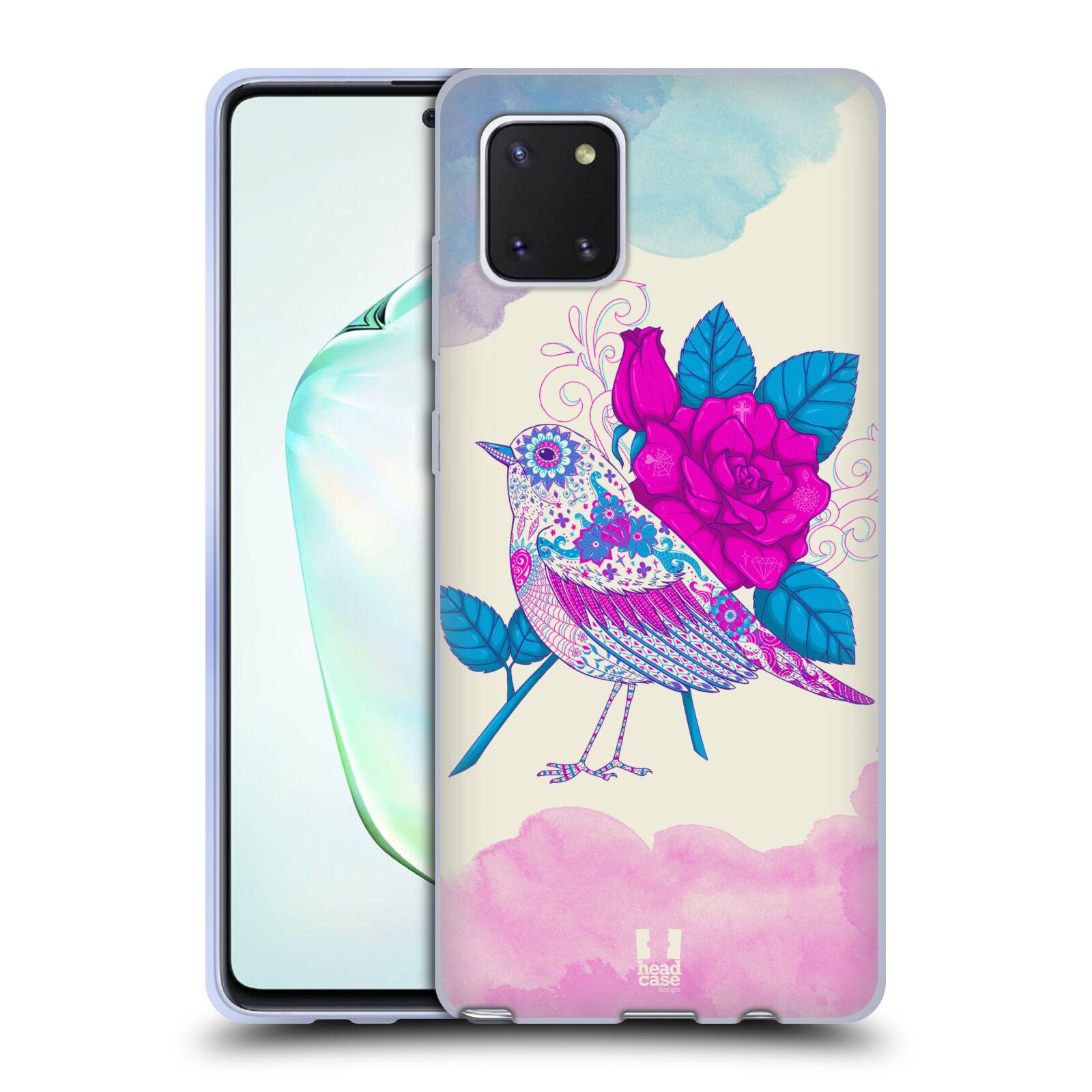 Silikonové pouzdro na mobil Samsung Galaxy Note 10 Lite - Head Case - PTÁČEK FUCHSIA