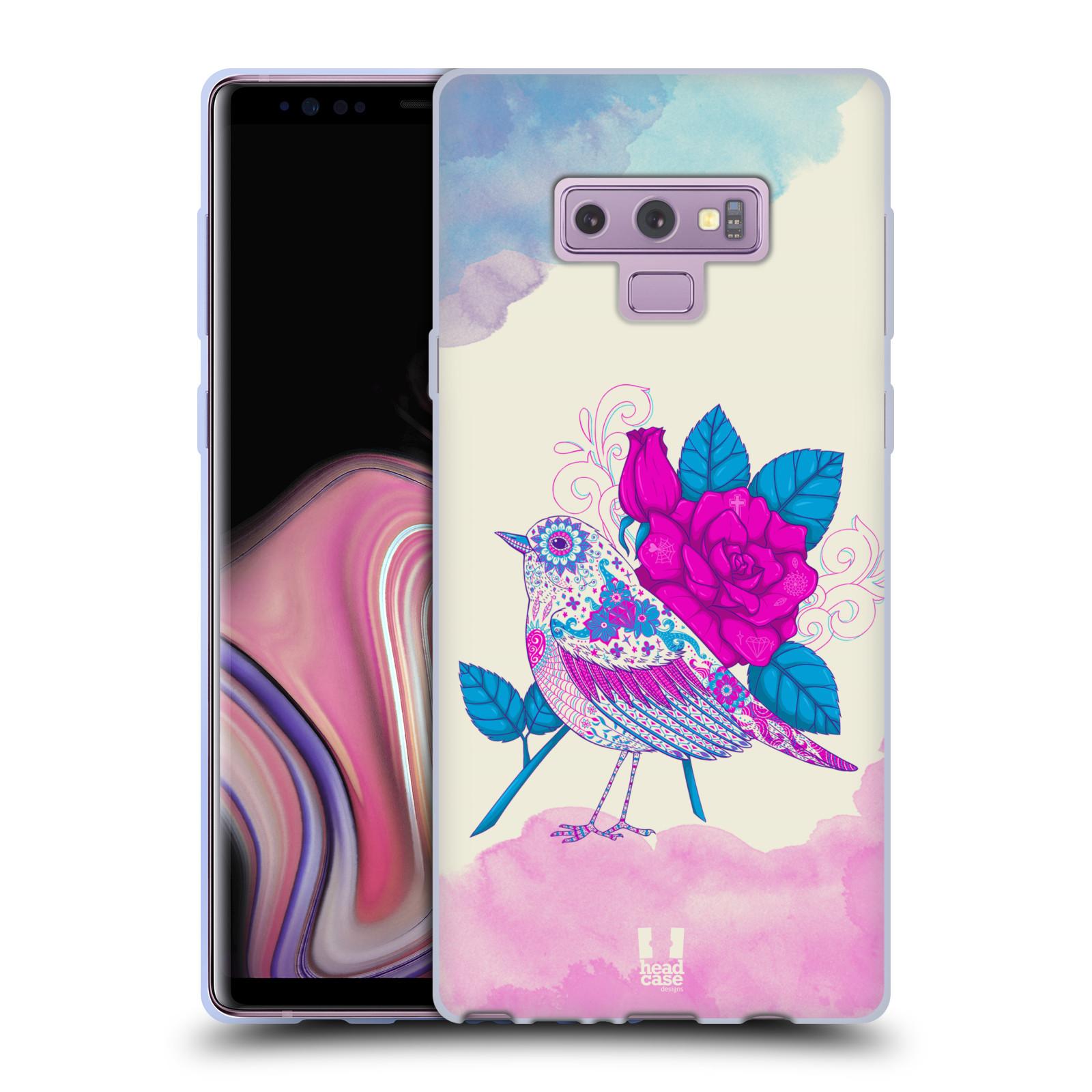 Silikonové pouzdro na mobil Samsung Galaxy Note 9 - Head Case - PTÁČEK FUCHSIA